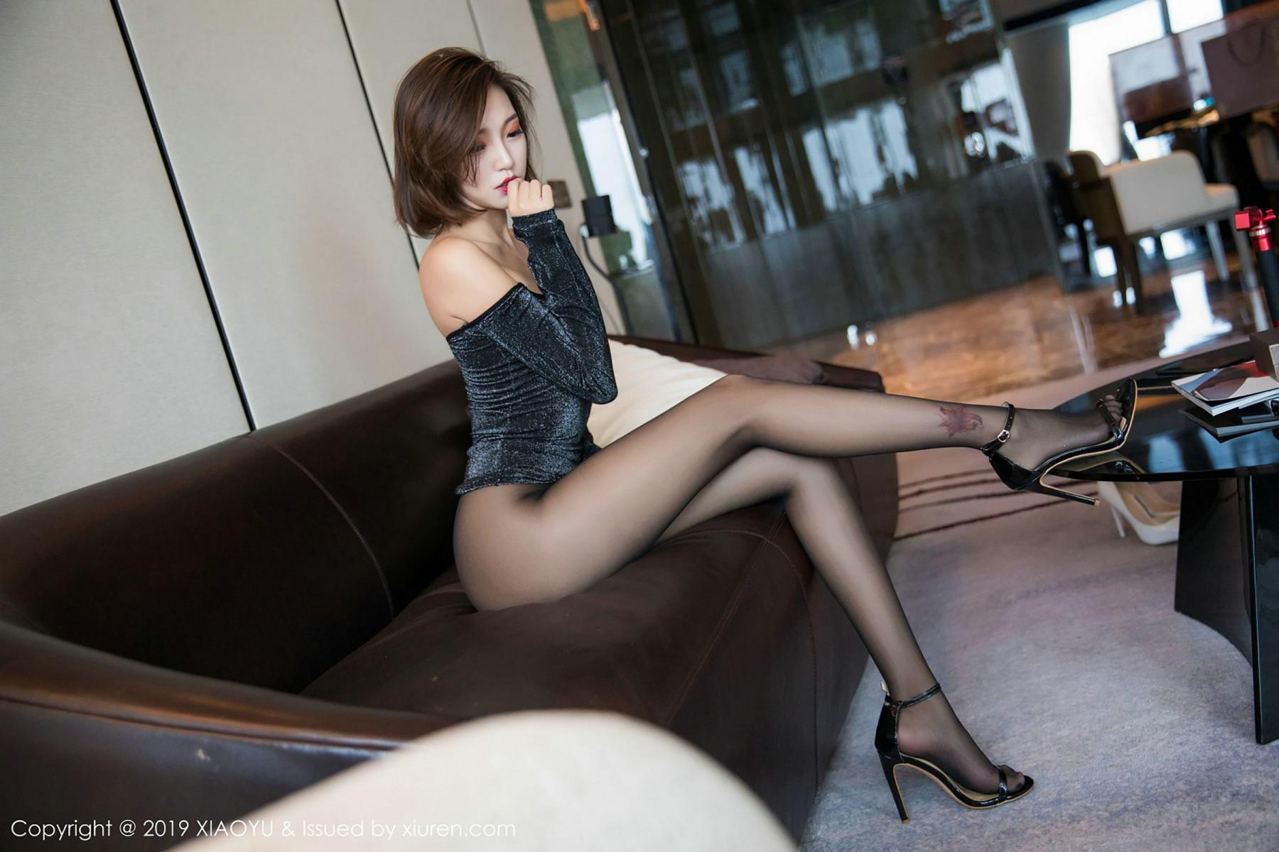 [XiaoYu] Vol.006 Feng Mu Mu 57P, Black Silk, Feng Mu Mu, Tall, XiaoYu