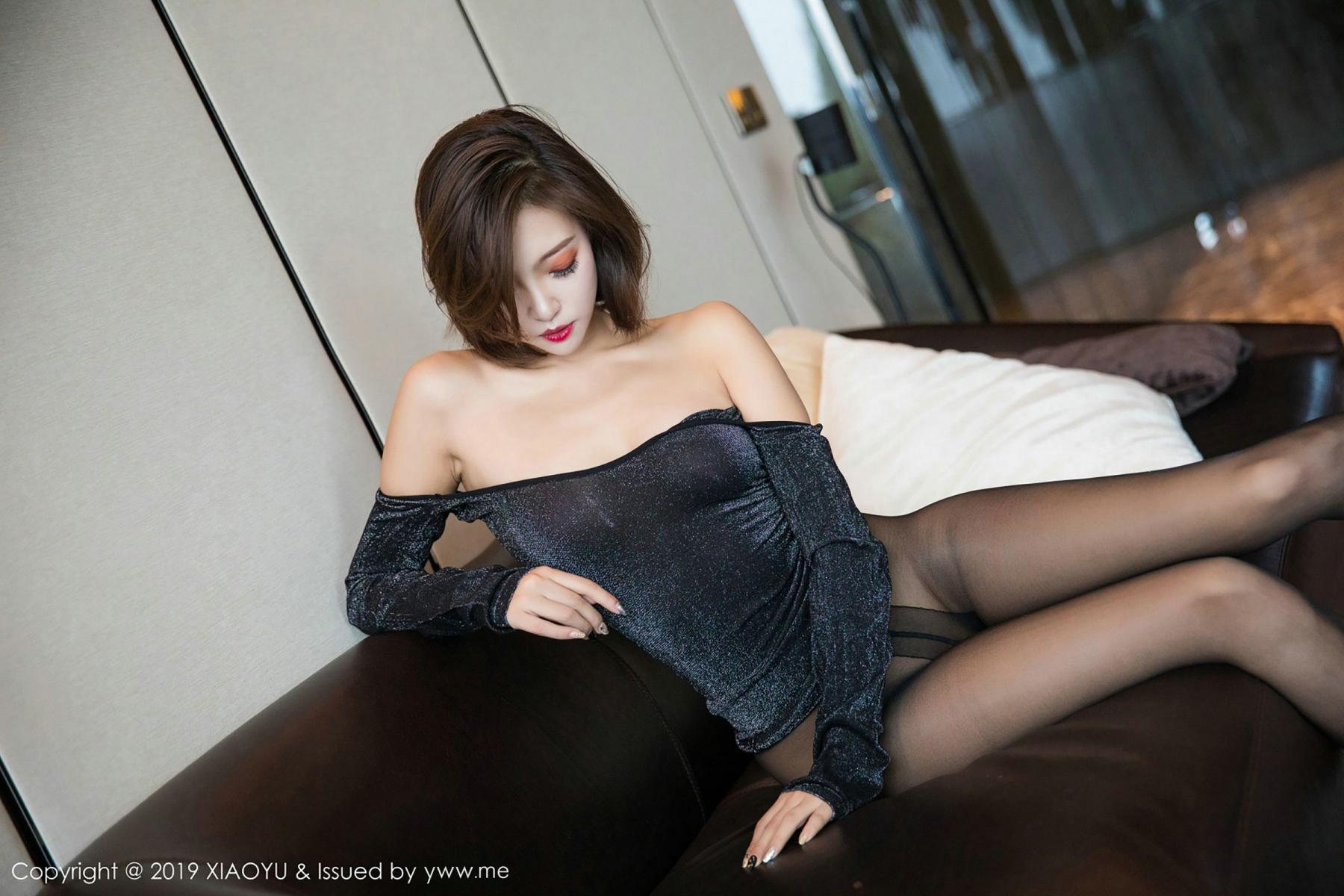 [XiaoYu] Vol.006 Feng Mu Mu 58P, Black Silk, Feng Mu Mu, Tall, XiaoYu