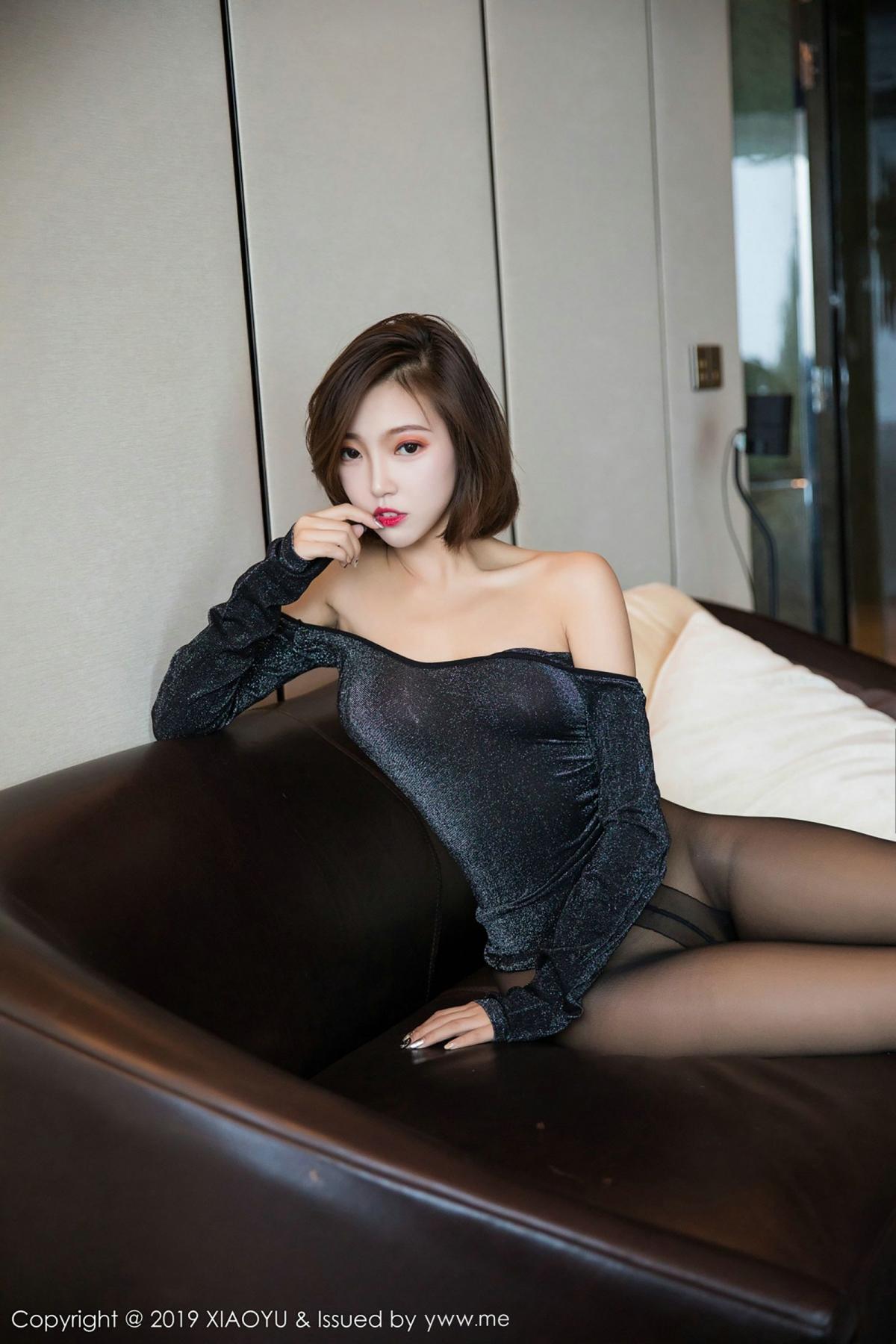 [XiaoYu] Vol.006 Feng Mu Mu 59P, Black Silk, Feng Mu Mu, Tall, XiaoYu