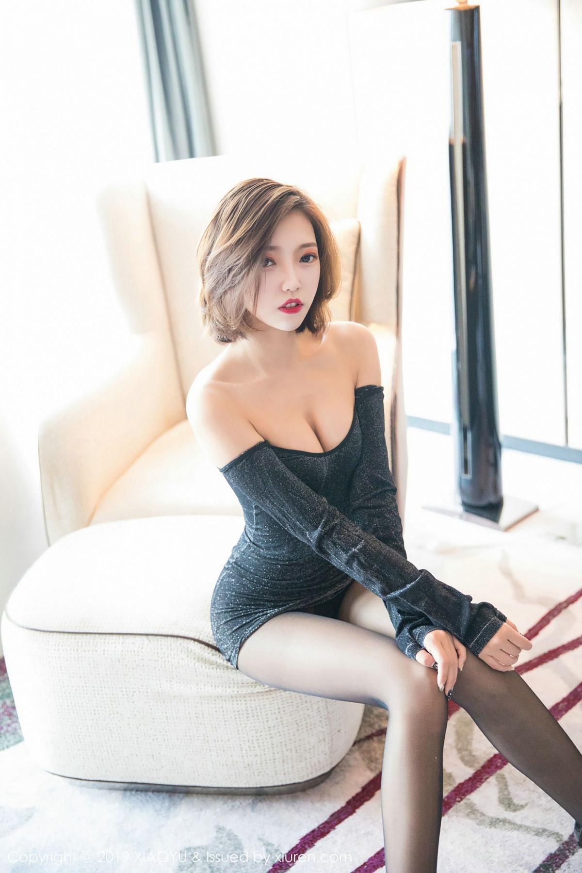 [XiaoYu] Vol.006 Feng Mu Mu 5P, Black Silk, Feng Mu Mu, Tall, XiaoYu