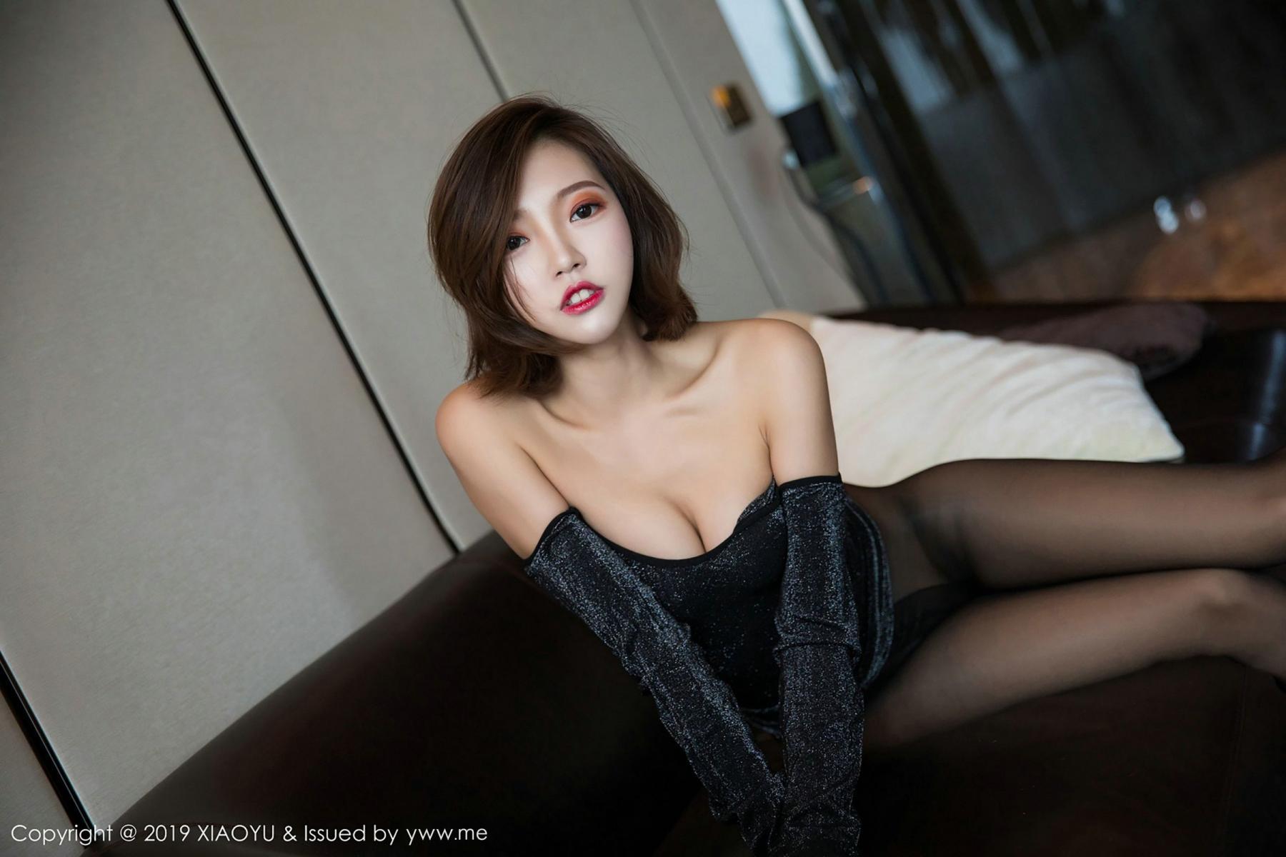 [XiaoYu] Vol.006 Feng Mu Mu 60P, Black Silk, Feng Mu Mu, Tall, XiaoYu