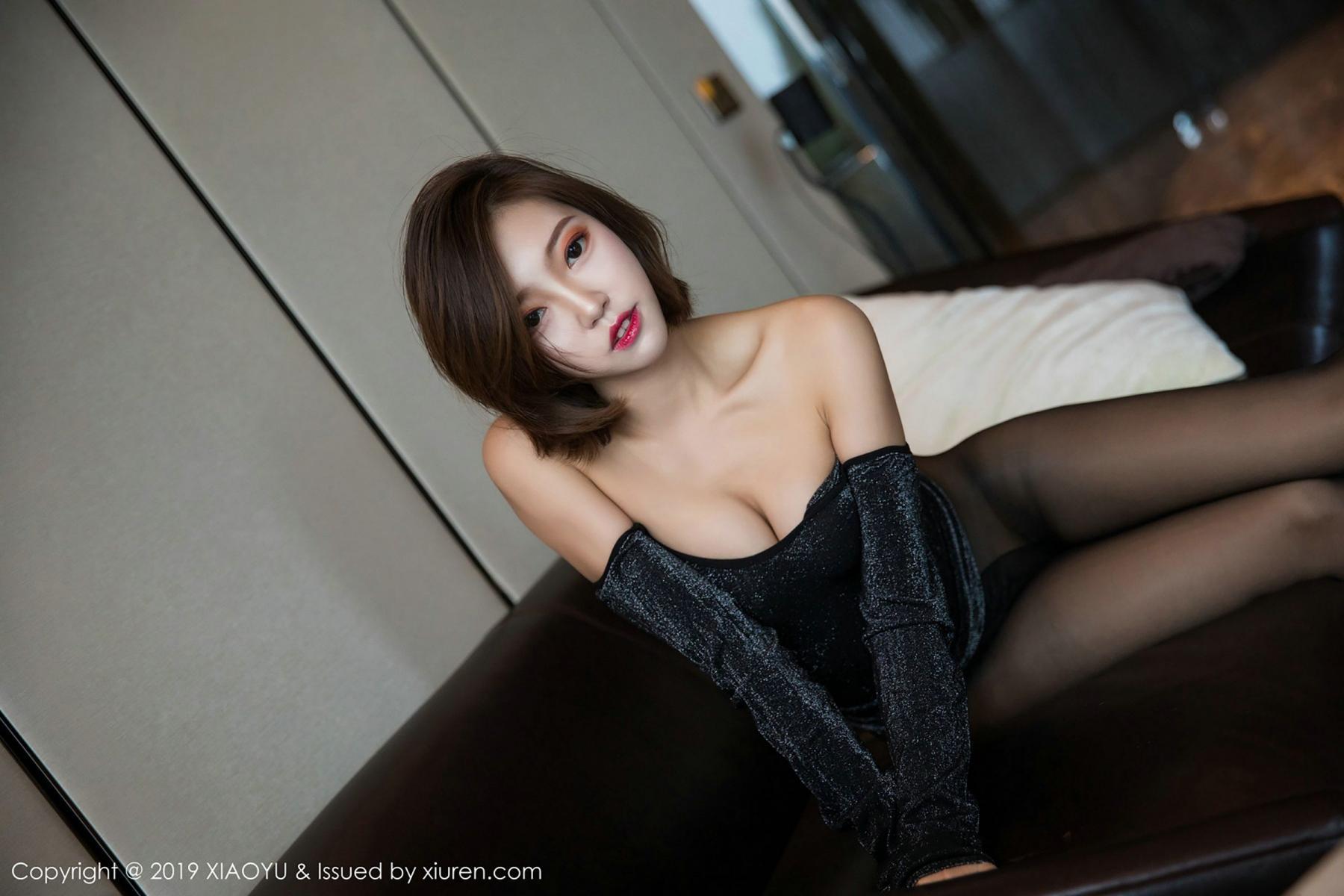[XiaoYu] Vol.006 Feng Mu Mu 61P, Black Silk, Feng Mu Mu, Tall, XiaoYu