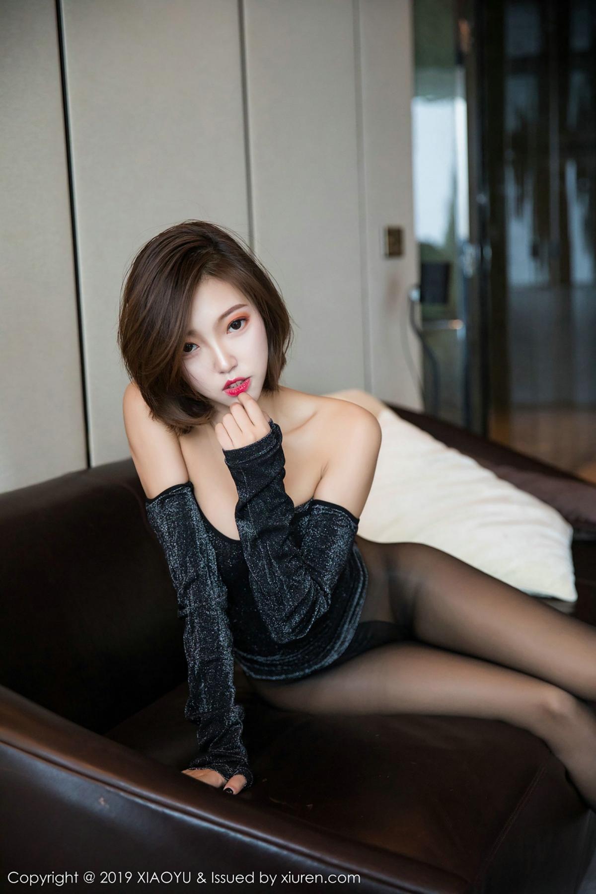 [XiaoYu] Vol.006 Feng Mu Mu 62P, Black Silk, Feng Mu Mu, Tall, XiaoYu