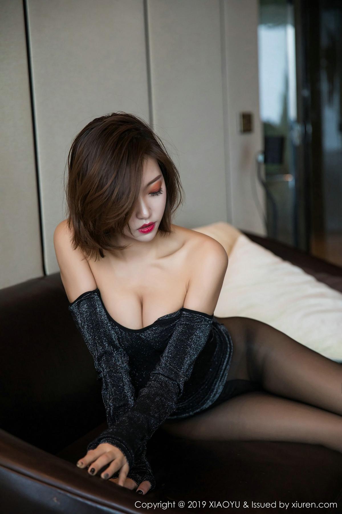 [XiaoYu] Vol.006 Feng Mu Mu 63P, Black Silk, Feng Mu Mu, Tall, XiaoYu