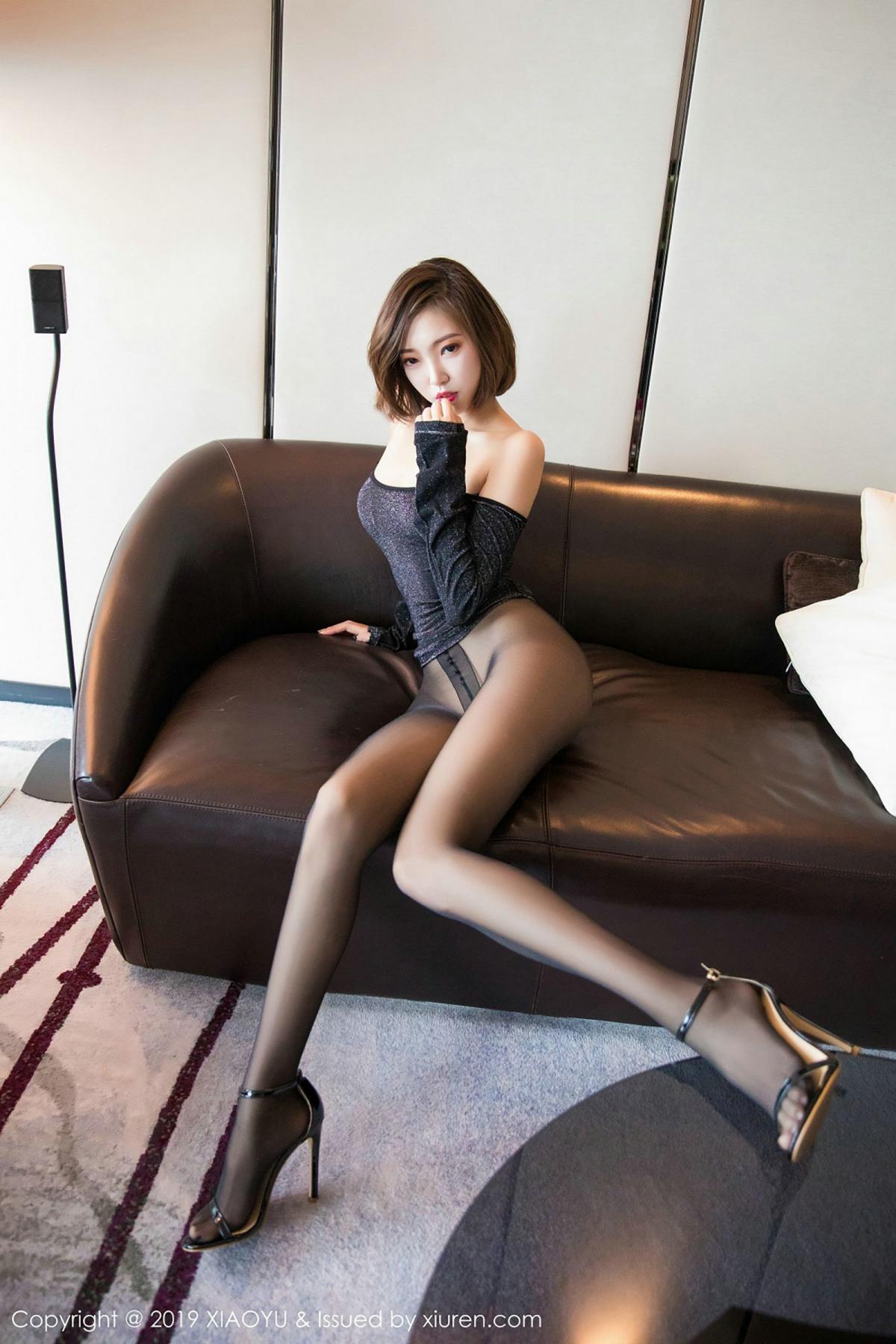 [XiaoYu] Vol.006 Feng Mu Mu 65P, Black Silk, Feng Mu Mu, Tall, XiaoYu