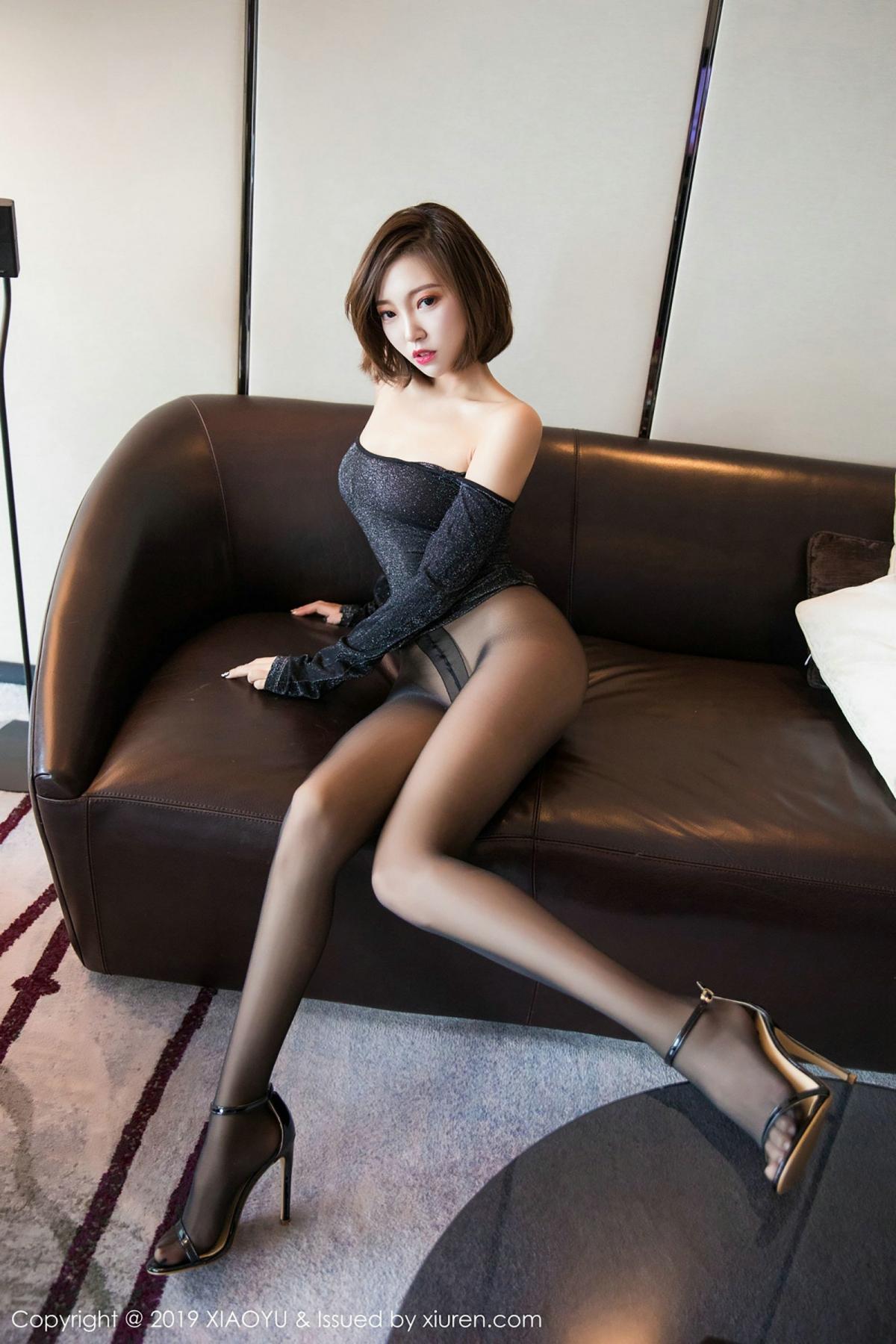 [XiaoYu] Vol.006 Feng Mu Mu 66P, Black Silk, Feng Mu Mu, Tall, XiaoYu
