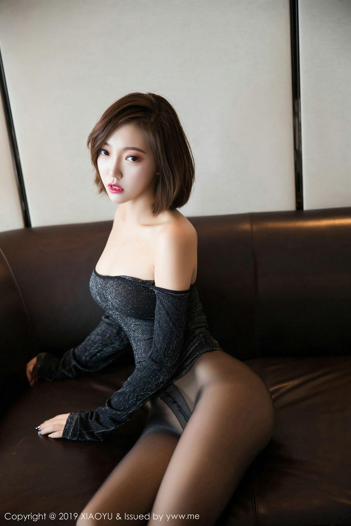 [XiaoYu] Vol.006 Feng Mu Mu 68P, Black Silk, Feng Mu Mu, Tall, XiaoYu