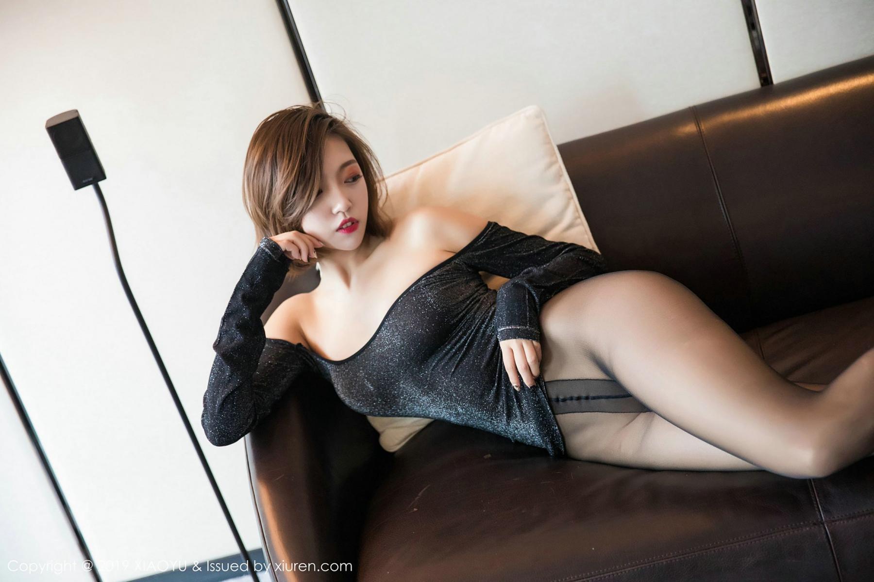 [XiaoYu] Vol.006 Feng Mu Mu 73P, Black Silk, Feng Mu Mu, Tall, XiaoYu
