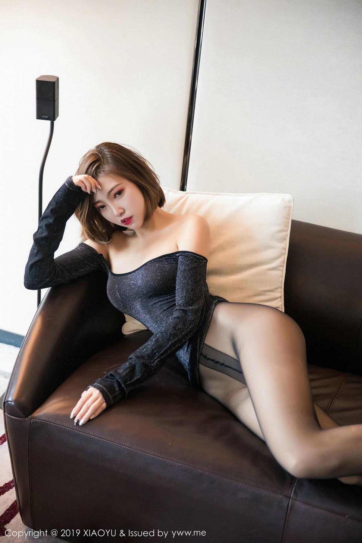 [XiaoYu] Vol.006 Feng Mu Mu 74P, Black Silk, Feng Mu Mu, Tall, XiaoYu