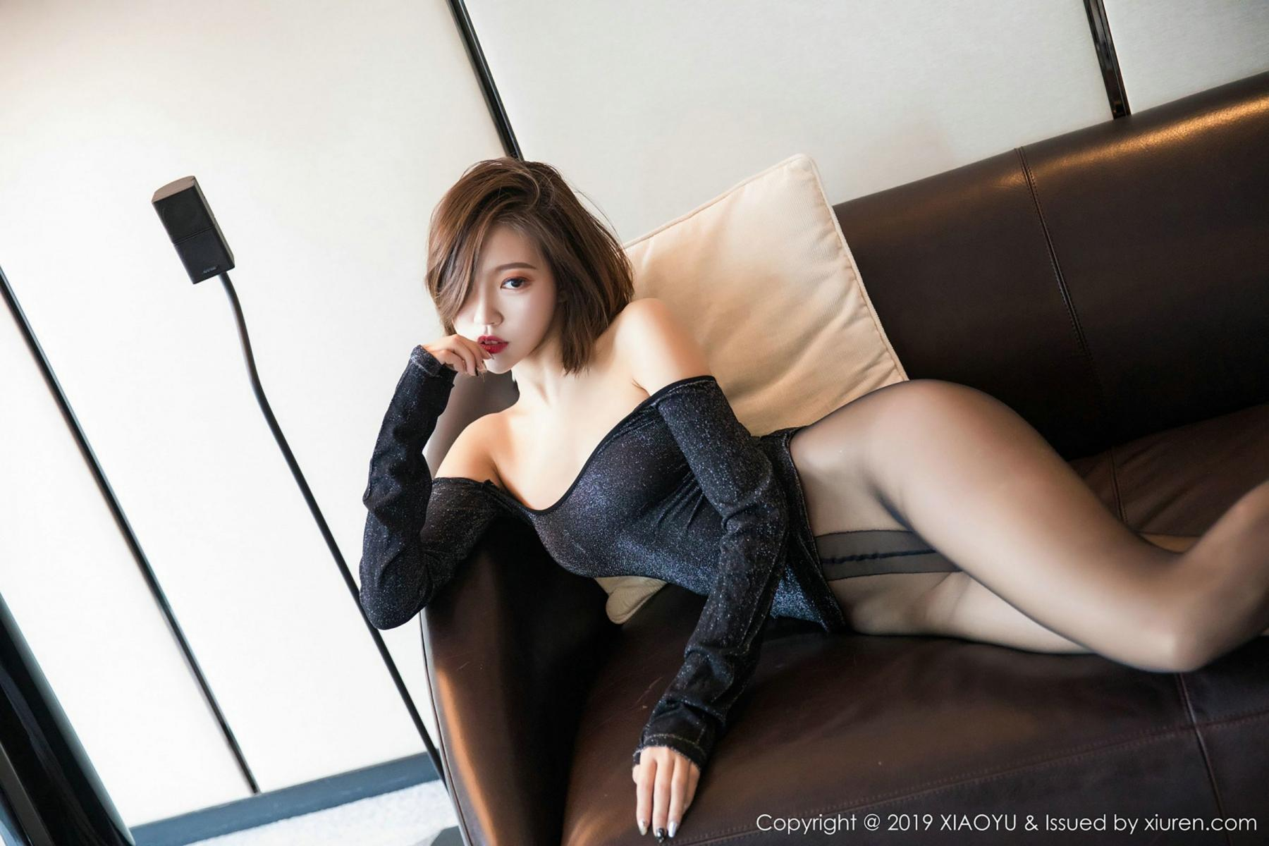 [XiaoYu] Vol.006 Feng Mu Mu 75P, Black Silk, Feng Mu Mu, Tall, XiaoYu