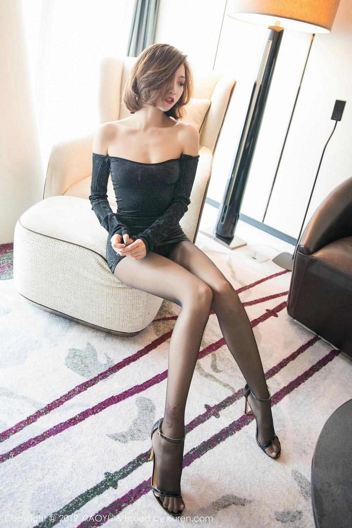 [XiaoYu] Vol.006 Feng Mu Mu 78P, Black Silk, Feng Mu Mu, Tall, XiaoYu