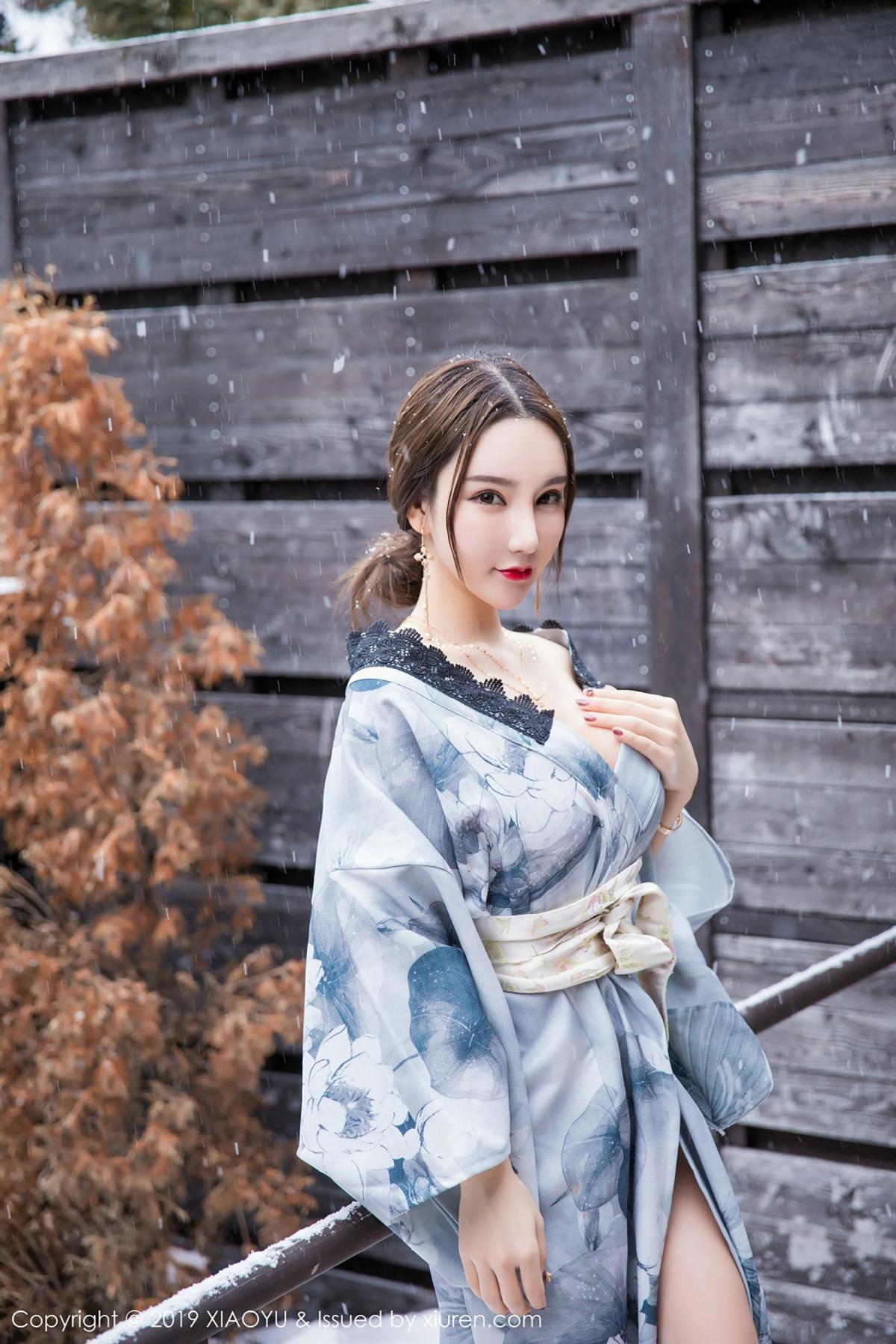 [XiaoYu] Vol.007 Zhou Yu Xi 14P, Snow, Tall, XiaoYu, Zhou Yu Xi