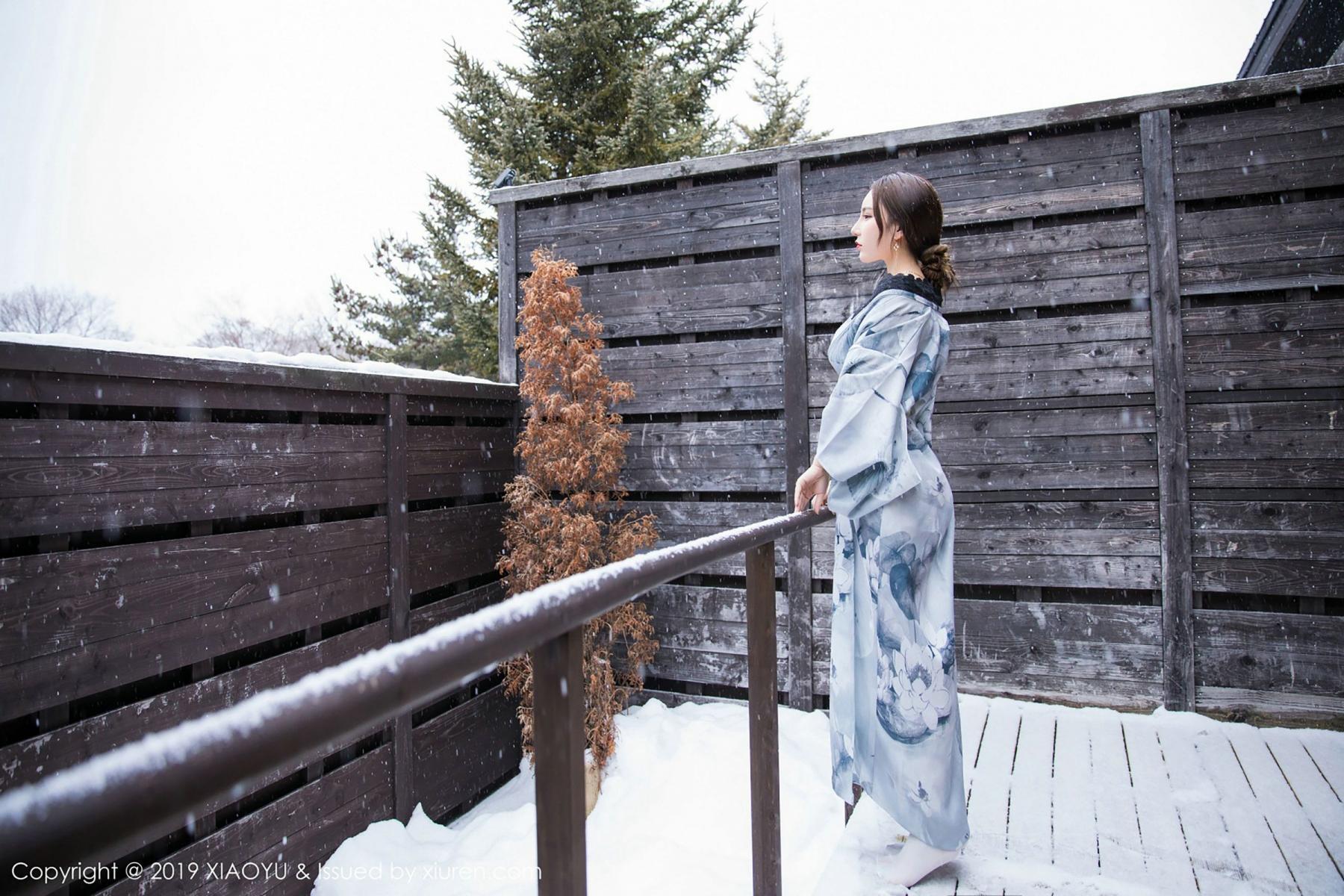 [XiaoYu] Vol.007 Zhou Yu Xi 15P, Snow, Tall, XiaoYu, Zhou Yu Xi