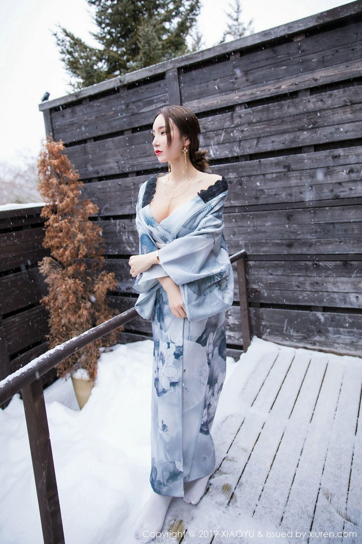 [XiaoYu] Vol.007 Zhou Yu Xi 17P, Snow, Tall, XiaoYu, Zhou Yu Xi
