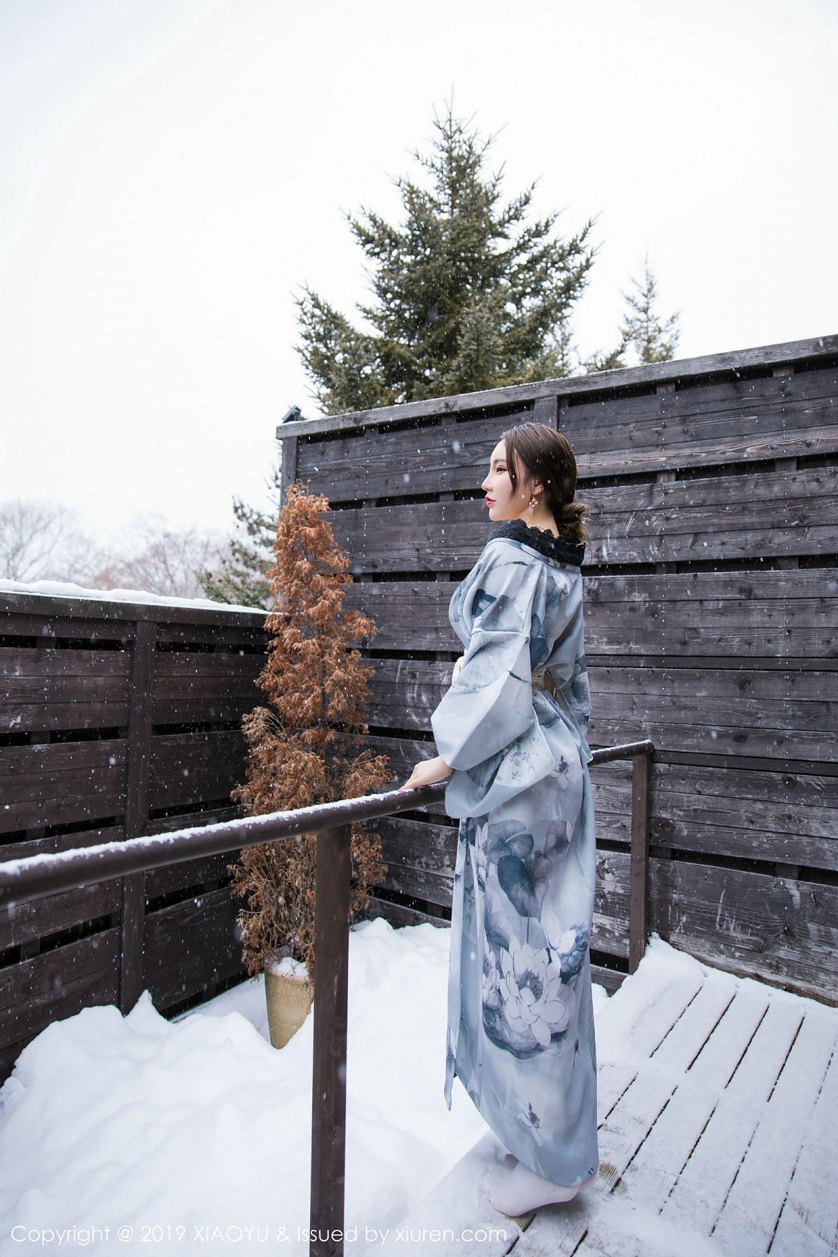 [XiaoYu] Vol.007 Zhou Yu Xi 19P, Snow, Tall, XiaoYu, Zhou Yu Xi