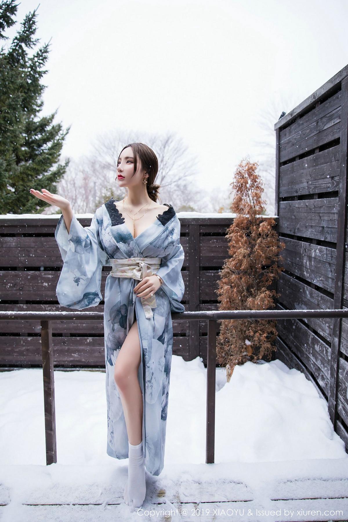 [XiaoYu] Vol.007 Zhou Yu Xi 1P, Snow, Tall, XiaoYu, Zhou Yu Xi