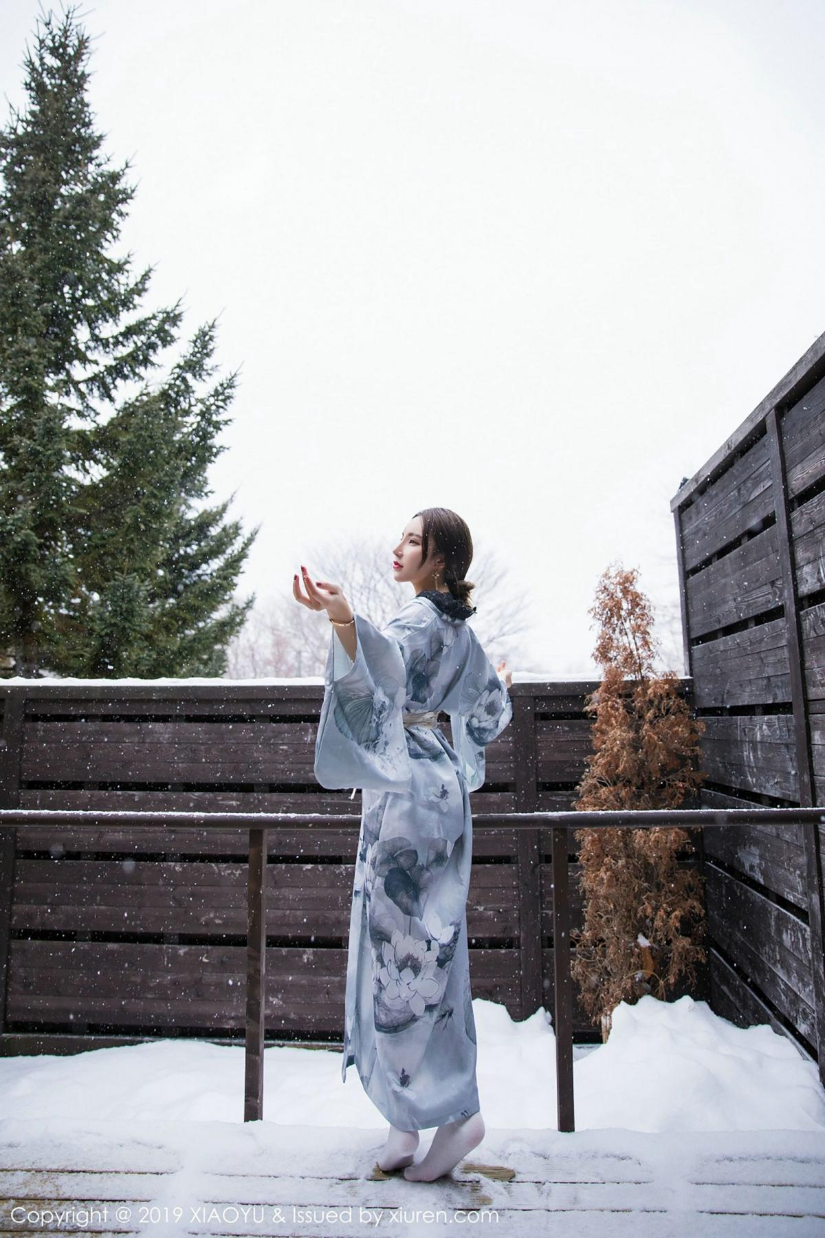 [XiaoYu] Vol.007 Zhou Yu Xi 20P, Snow, Tall, XiaoYu, Zhou Yu Xi