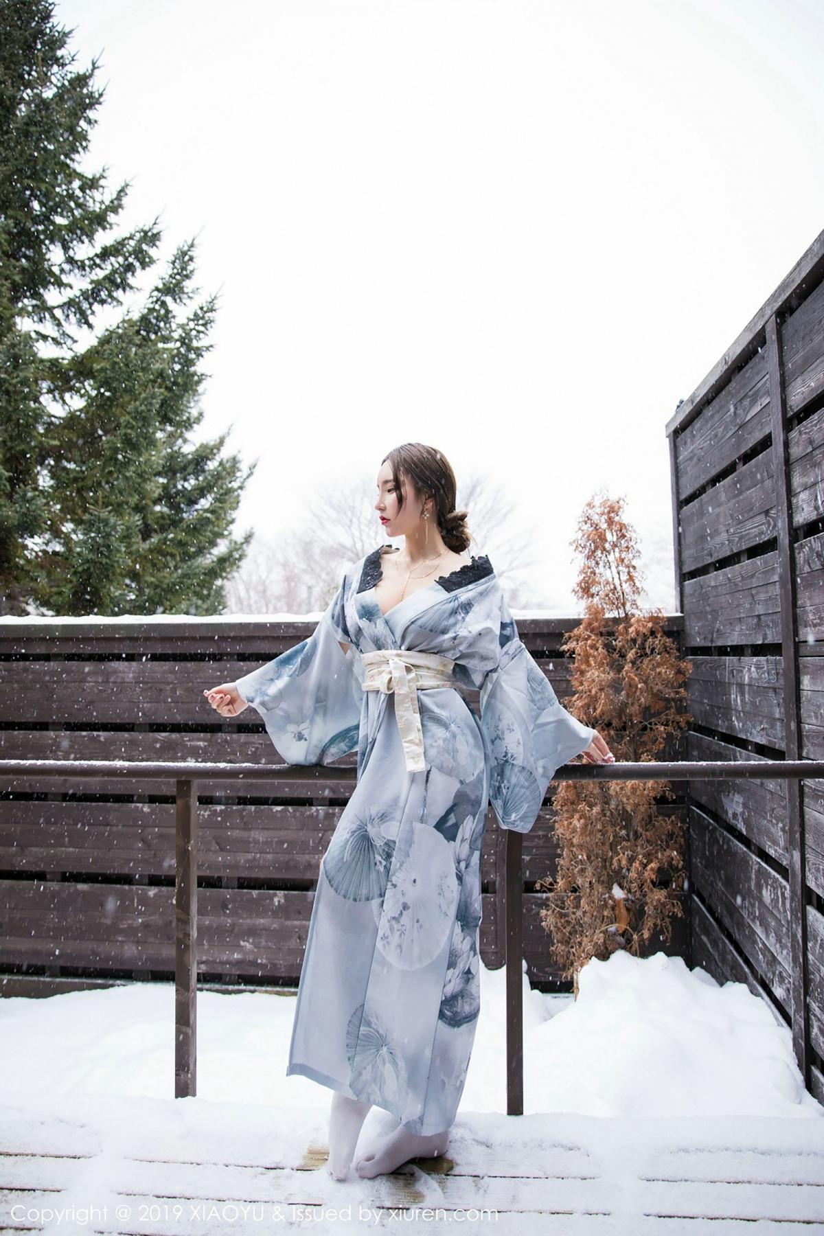 [XiaoYu] Vol.007 Zhou Yu Xi 22P, Snow, Tall, XiaoYu, Zhou Yu Xi