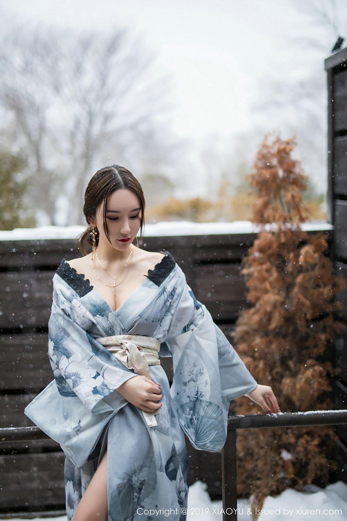 [XiaoYu] Vol.007 Zhou Yu Xi 24P, Snow, Tall, XiaoYu, Zhou Yu Xi