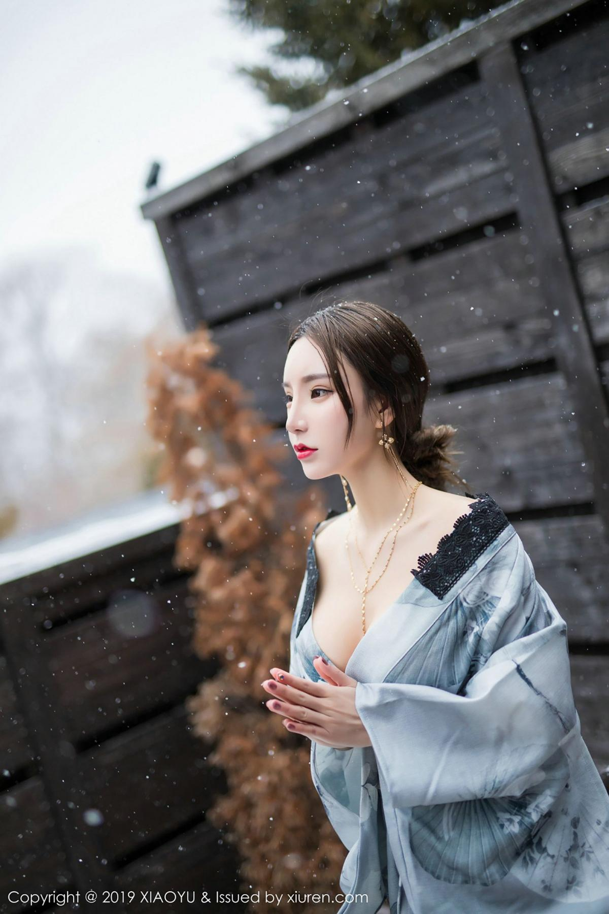 [XiaoYu] Vol.007 Zhou Yu Xi 26P, Snow, Tall, XiaoYu, Zhou Yu Xi