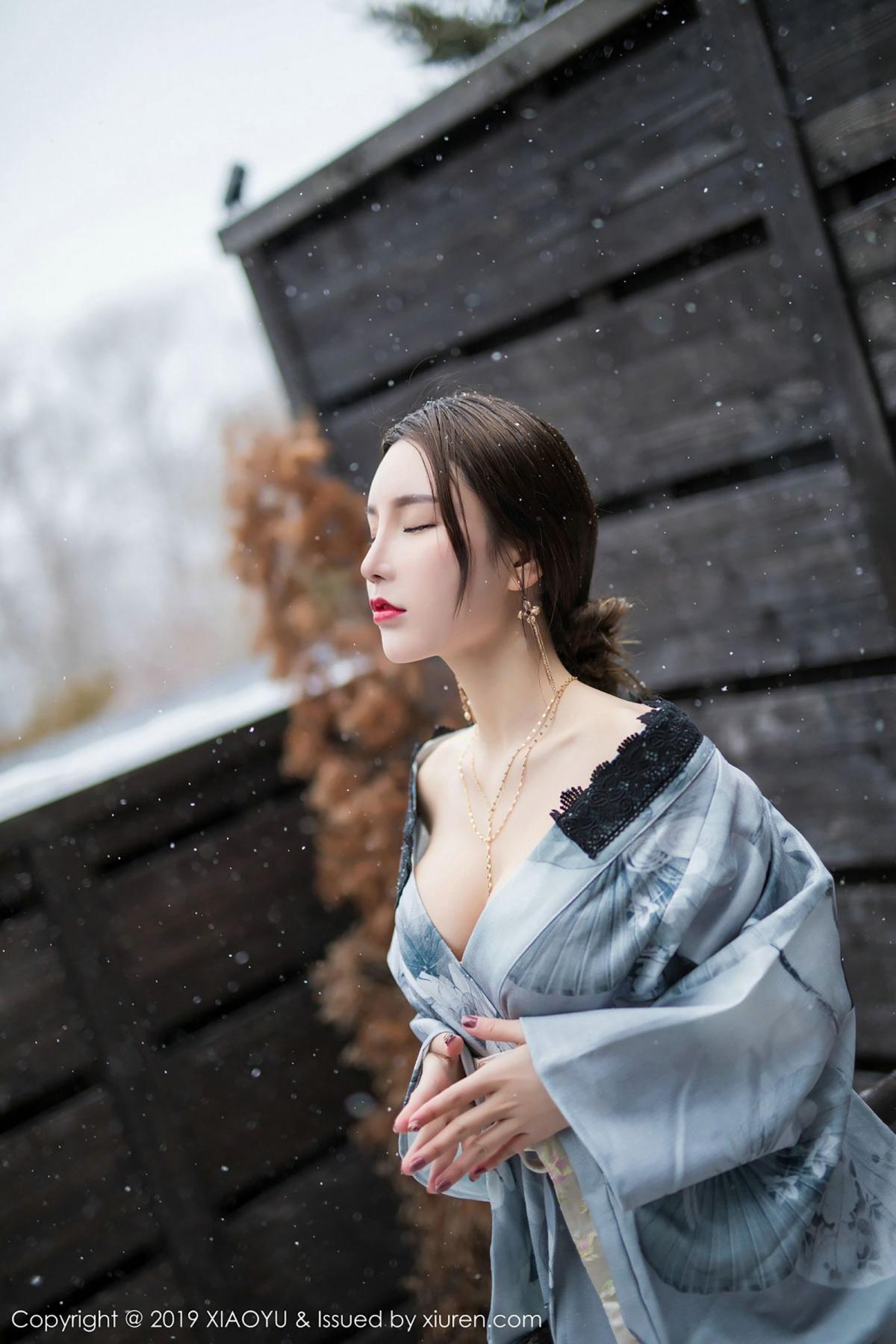[XiaoYu] Vol.007 Zhou Yu Xi 27P, Snow, Tall, XiaoYu, Zhou Yu Xi