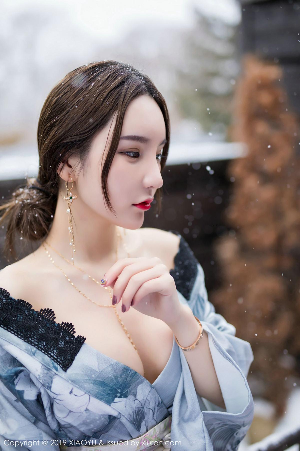 [XiaoYu] Vol.007 Zhou Yu Xi 34P, Snow, Tall, XiaoYu, Zhou Yu Xi