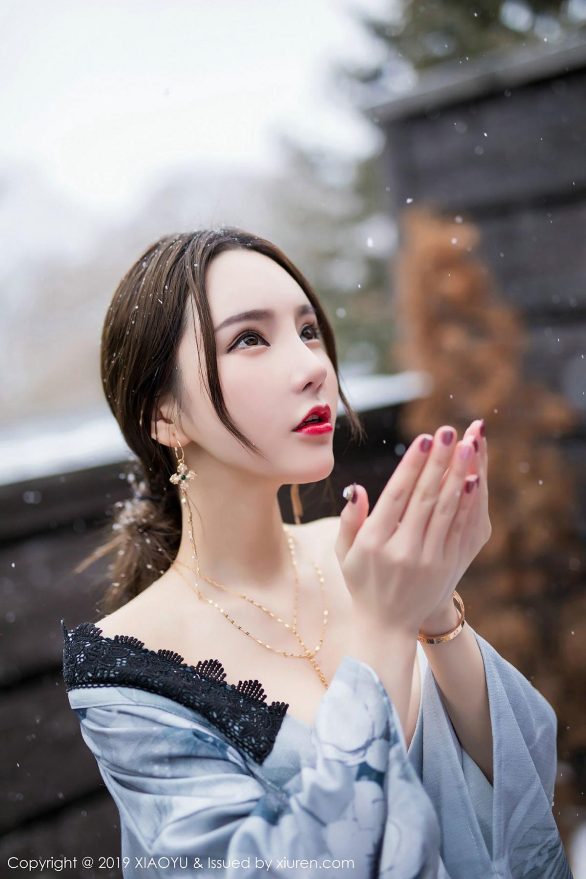 [XiaoYu] Vol.007 Zhou Yu Xi 36P, Snow, Tall, XiaoYu, Zhou Yu Xi