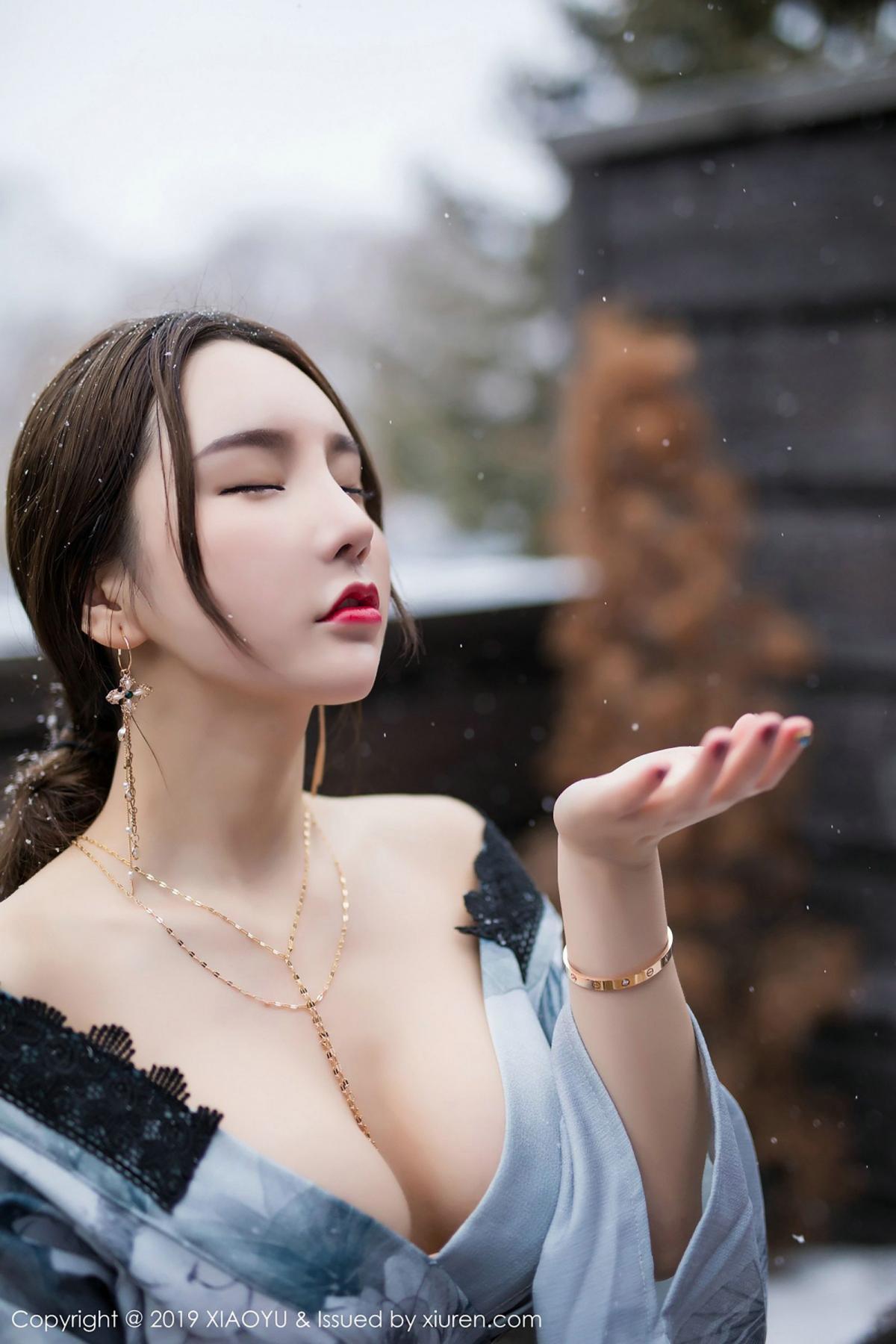 [XiaoYu] Vol.007 Zhou Yu Xi 37P, Snow, Tall, XiaoYu, Zhou Yu Xi