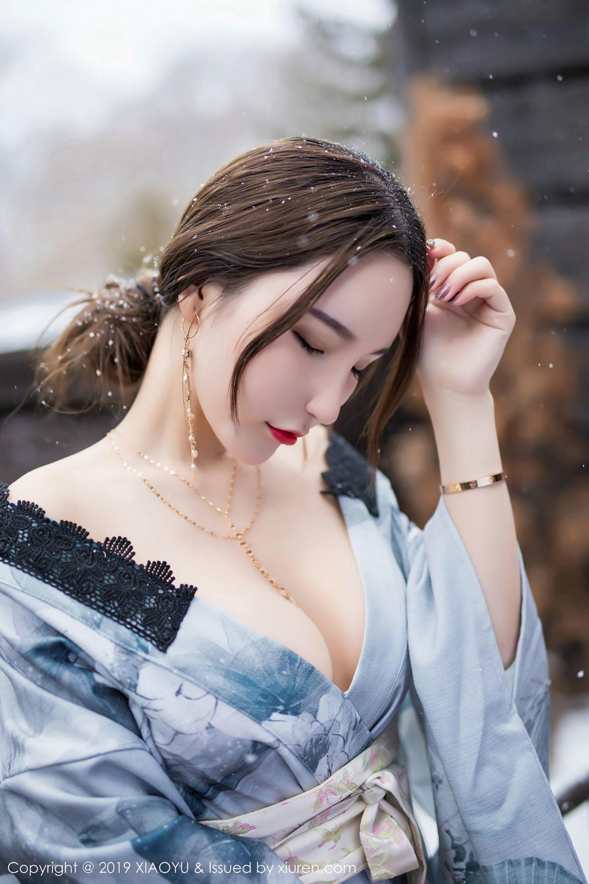 [XiaoYu] Vol.007 Zhou Yu Xi 38P, Snow, Tall, XiaoYu, Zhou Yu Xi