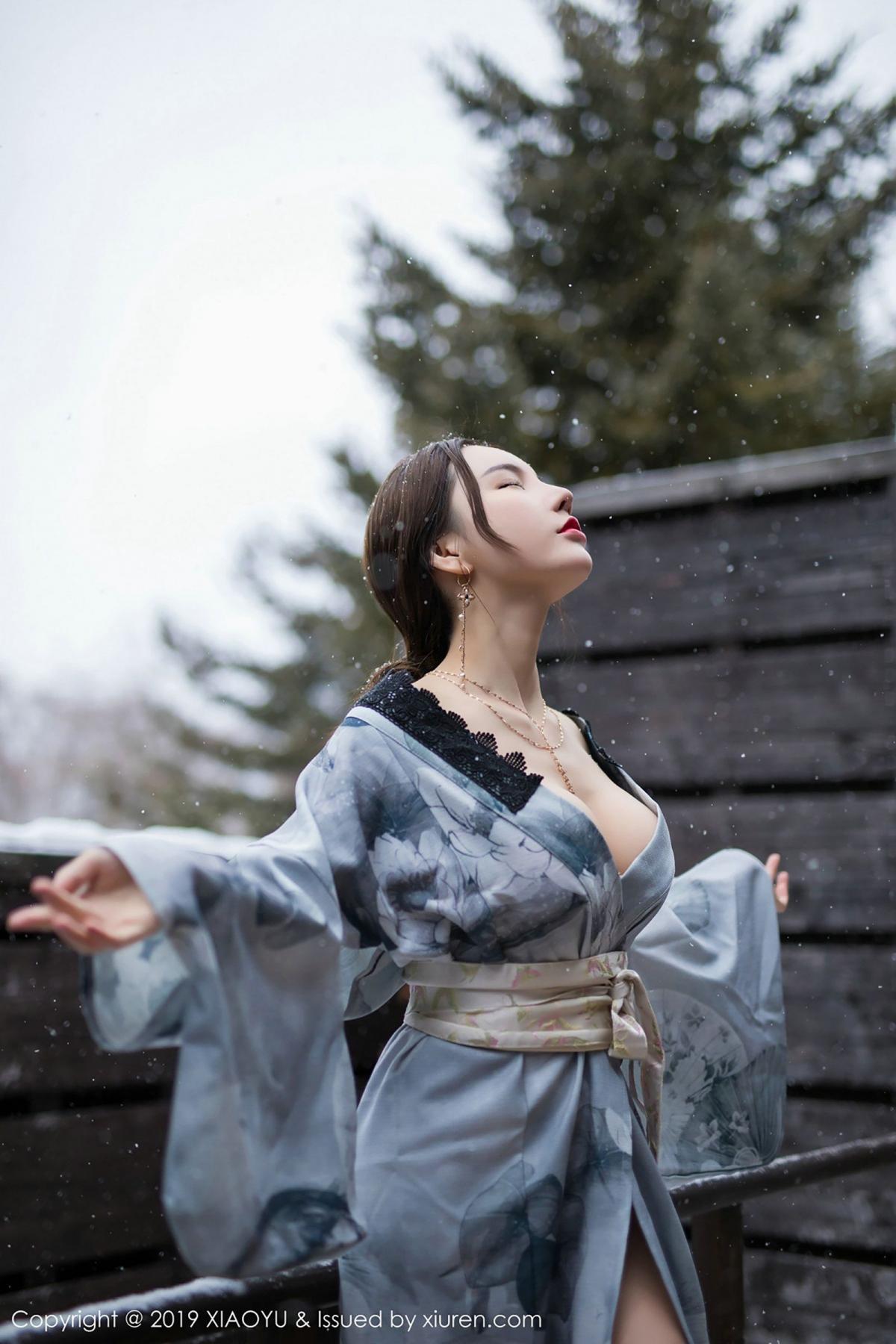 [XiaoYu] Vol.007 Zhou Yu Xi 40P, Snow, Tall, XiaoYu, Zhou Yu Xi