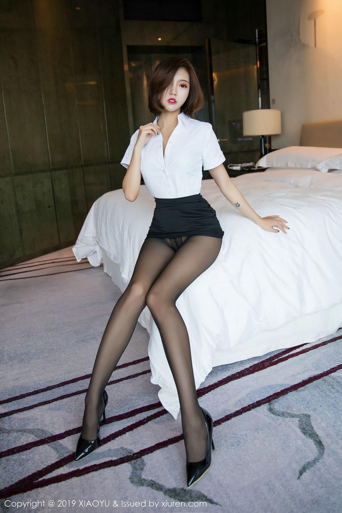 [XiaoYu] Vol.009 Feng Mu Mu 2P, Black Silk, Feng Mu Mu, Tall, Uniform, XiaoYu