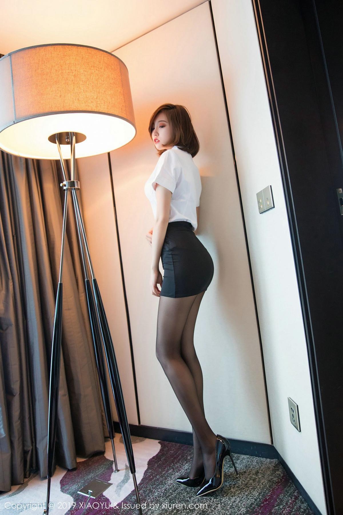 [XiaoYu] Vol.009 Feng Mu Mu 33P, Black Silk, Feng Mu Mu, Tall, Uniform, XiaoYu