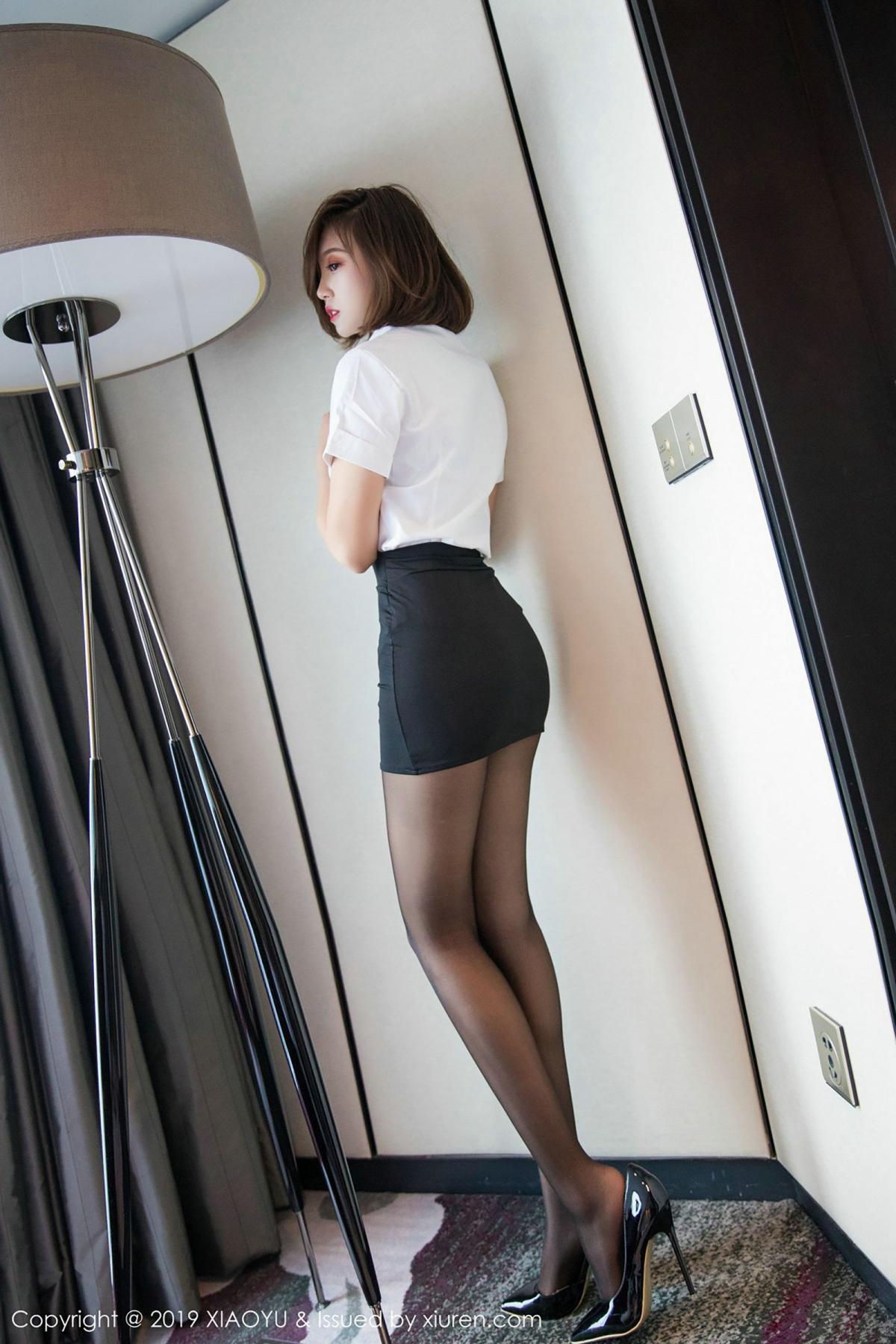 [XiaoYu] Vol.009 Feng Mu Mu 54P, Black Silk, Feng Mu Mu, Tall, Uniform, XiaoYu