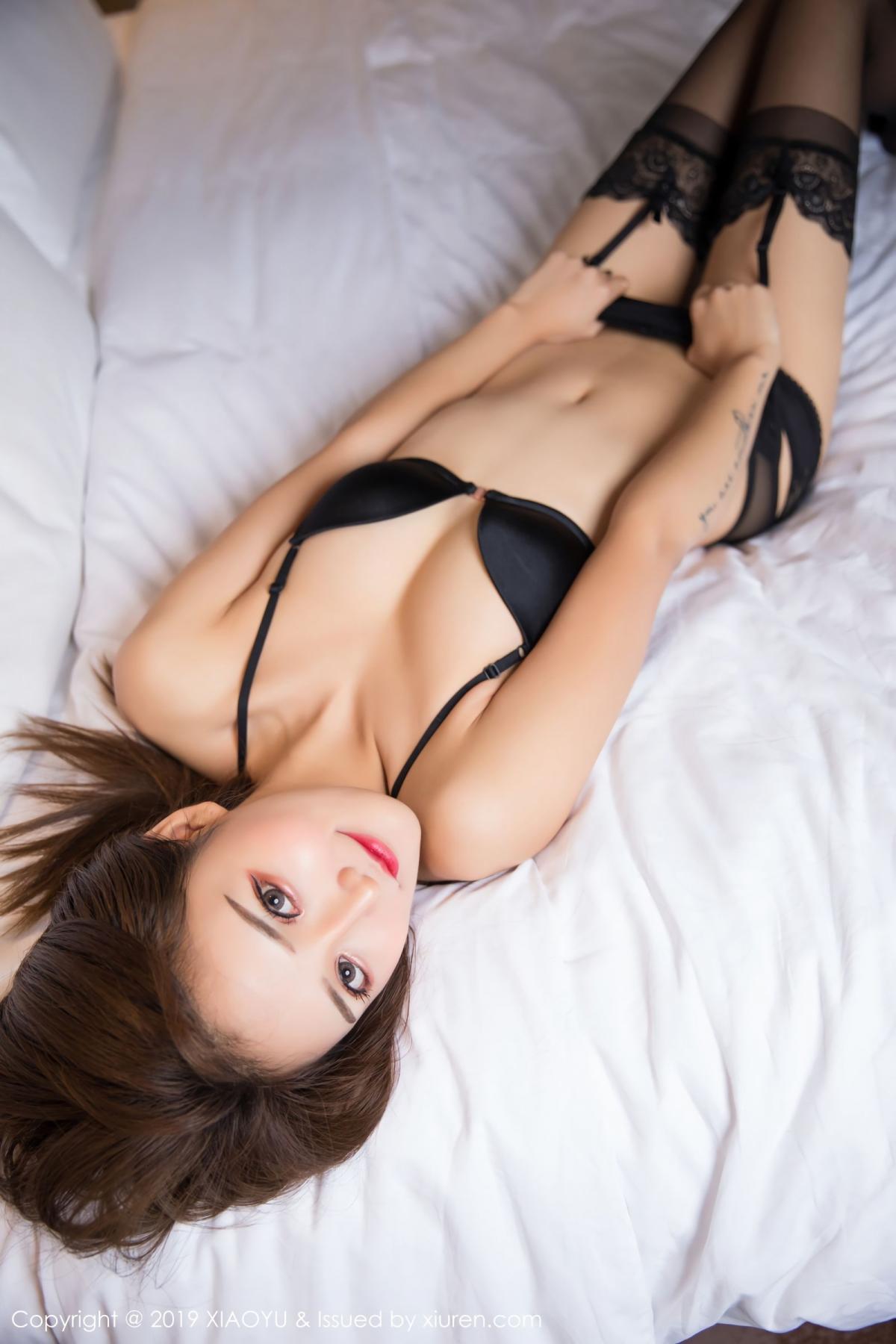 [XiaoYu] Vol.011 Miko Jiang 17P, Black Silk, Miko Jiang, Tall, Uniform, XiaoYu