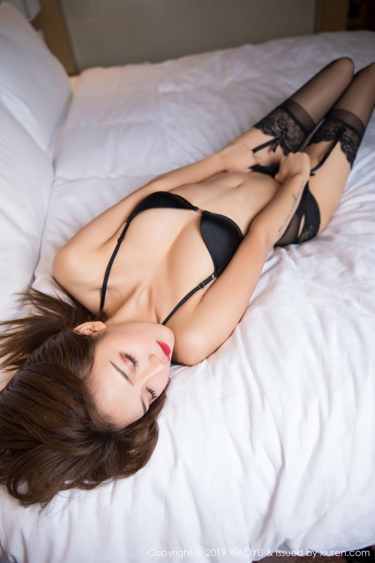 [XiaoYu] Vol.011 Miko Jiang 18P, Black Silk, Miko Jiang, Tall, Uniform, XiaoYu