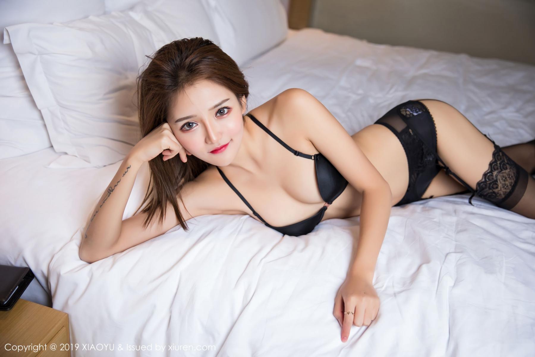 [XiaoYu] Vol.011 Miko Jiang 24P, Black Silk, Miko Jiang, Tall, Uniform, XiaoYu