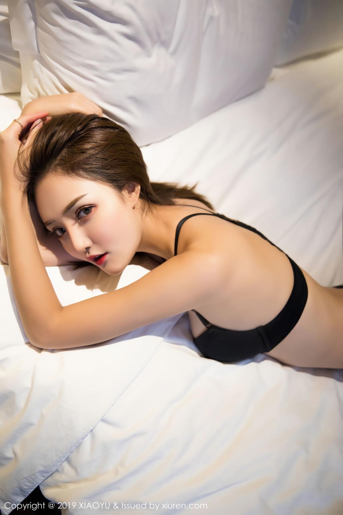 [XiaoYu] Vol.011 Miko Jiang 29P, Black Silk, Miko Jiang, Tall, Uniform, XiaoYu