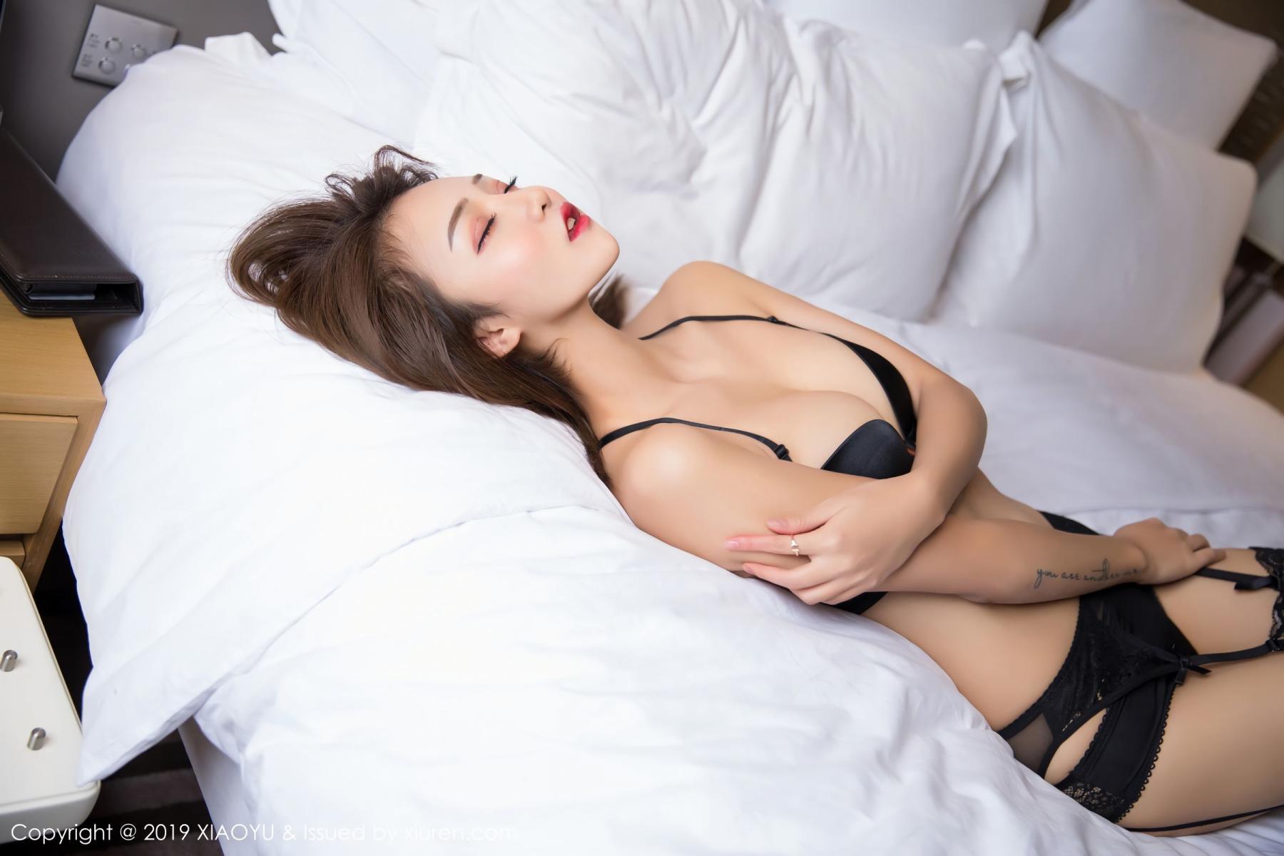 [XiaoYu] Vol.011 Miko Jiang 34P, Black Silk, Miko Jiang, Tall, Uniform, XiaoYu