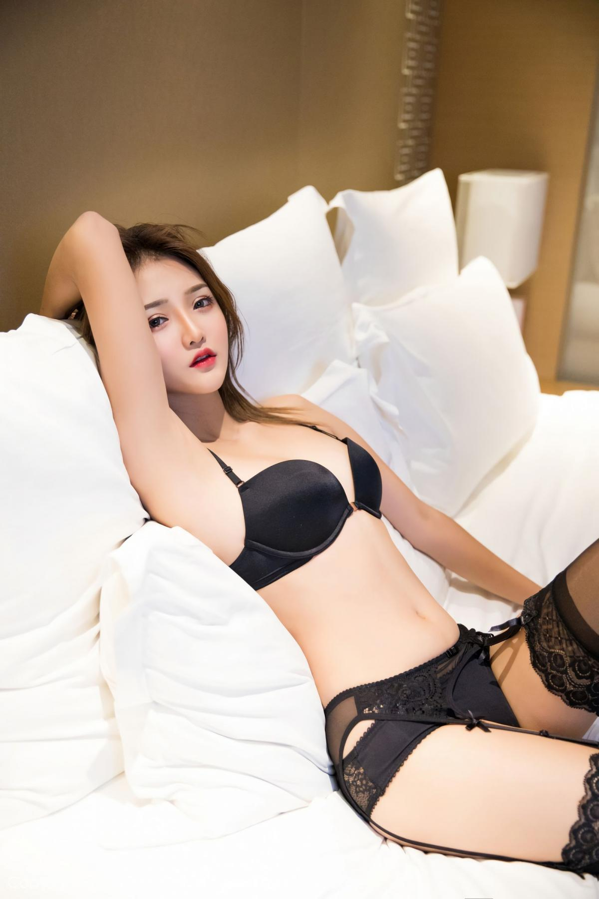 [XiaoYu] Vol.011 Miko Jiang 35P, Black Silk, Miko Jiang, Tall, Uniform, XiaoYu