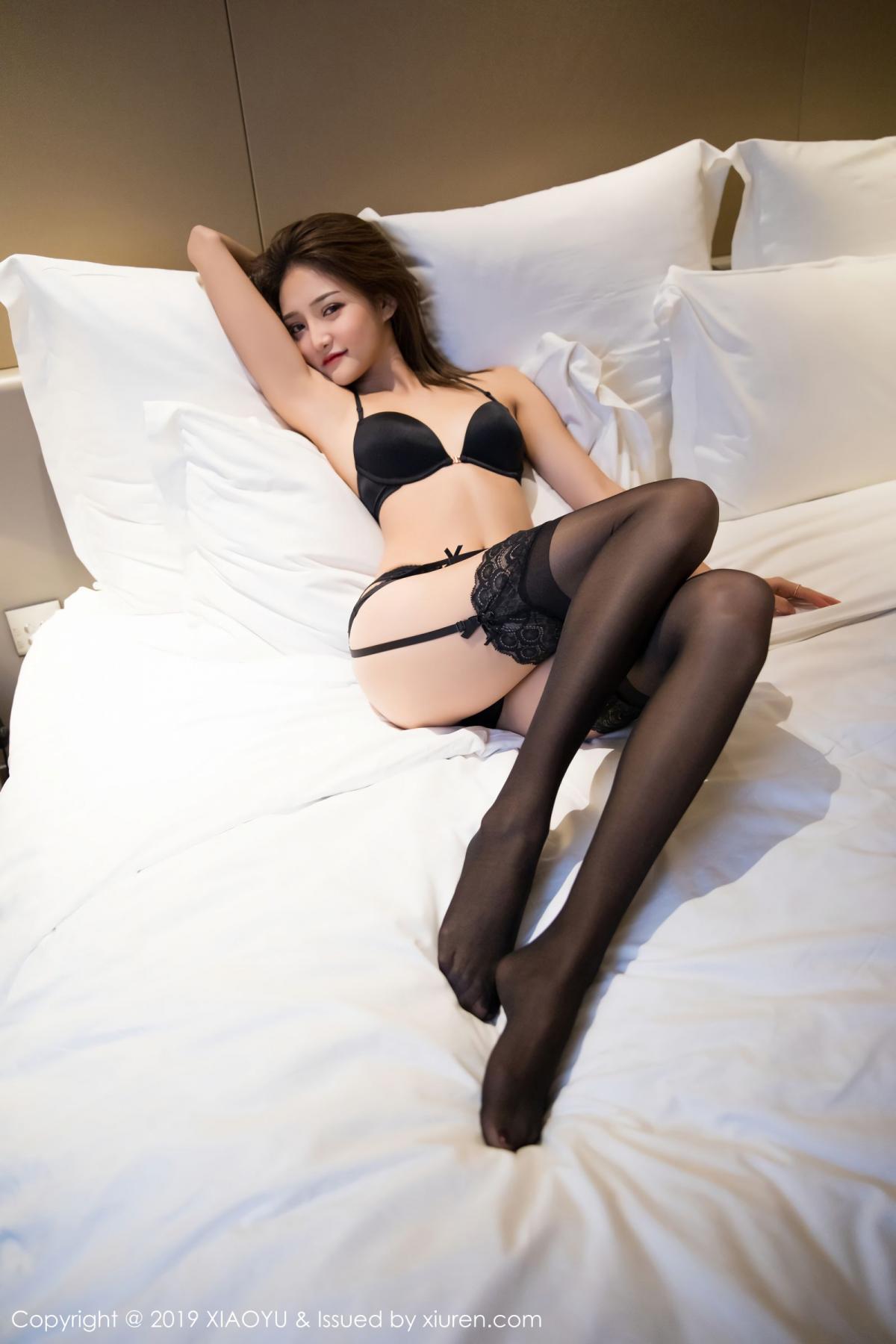 [XiaoYu] Vol.011 Miko Jiang 38P, Black Silk, Miko Jiang, Tall, Uniform, XiaoYu