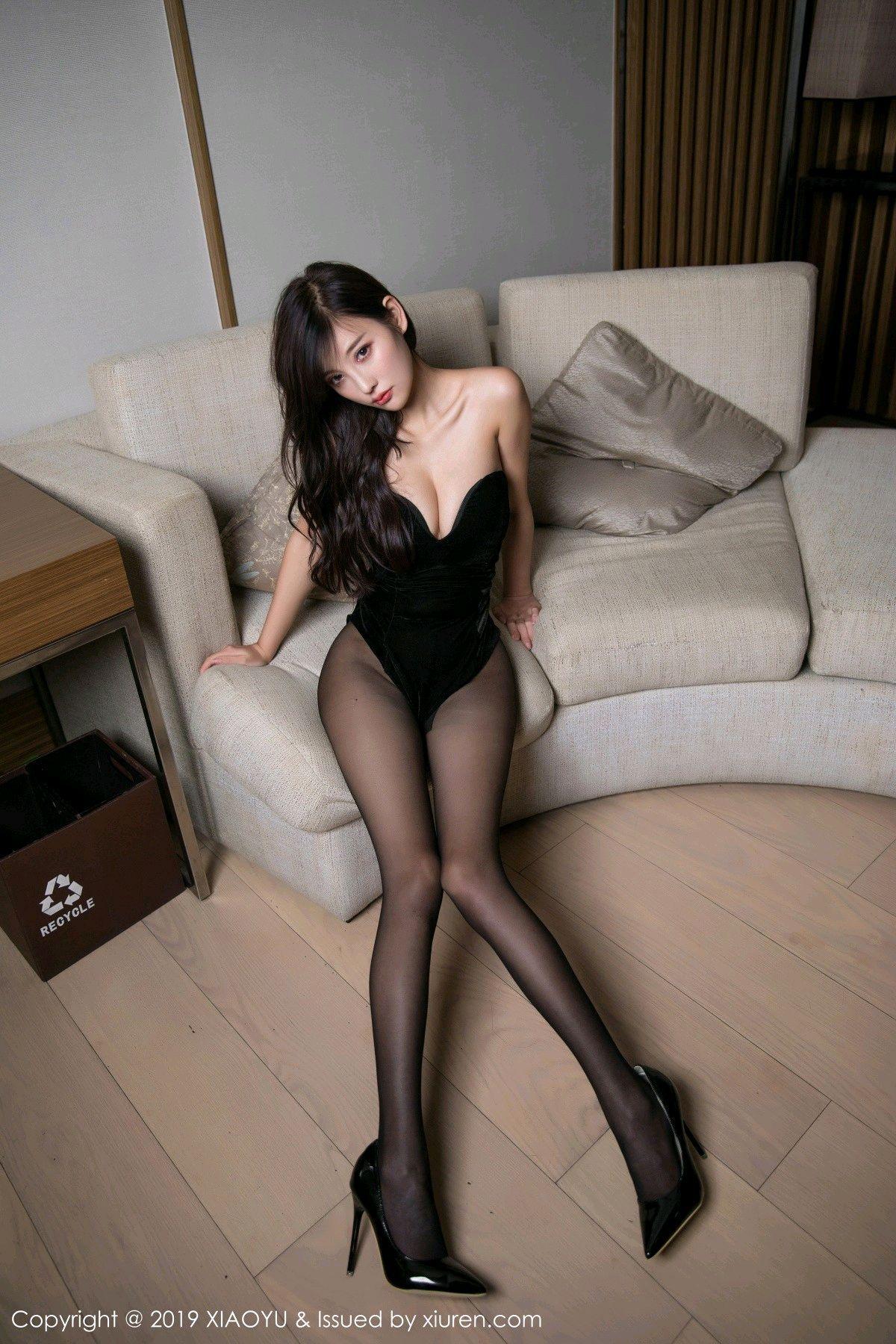 [XiaoYu] Vol.012 Yang Chen Chen 10P, Black Silk, Tall, XiaoYu, Yang Chen Chen