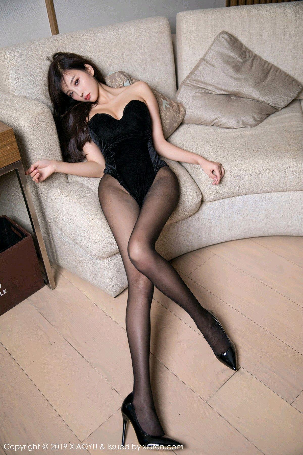 [XiaoYu] Vol.012 Yang Chen Chen 12P, Black Silk, Tall, XiaoYu, Yang Chen Chen