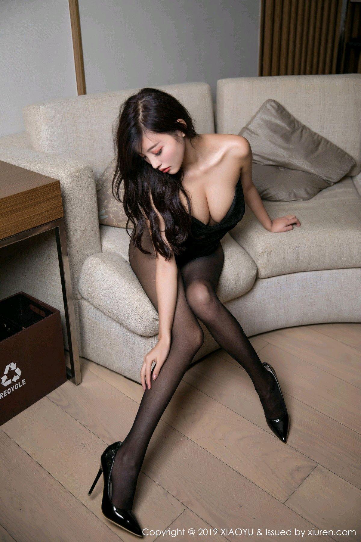 [XiaoYu] Vol.012 Yang Chen Chen 13P, Black Silk, Tall, XiaoYu, Yang Chen Chen