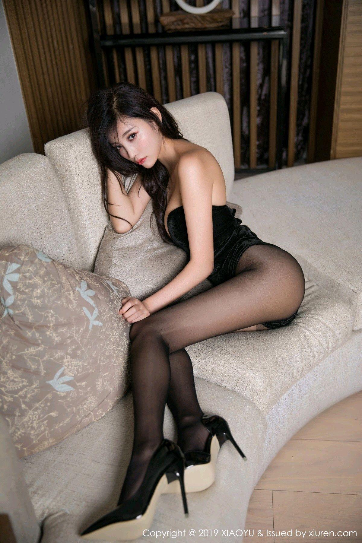 [XiaoYu] Vol.012 Yang Chen Chen 14P, Black Silk, Tall, XiaoYu, Yang Chen Chen