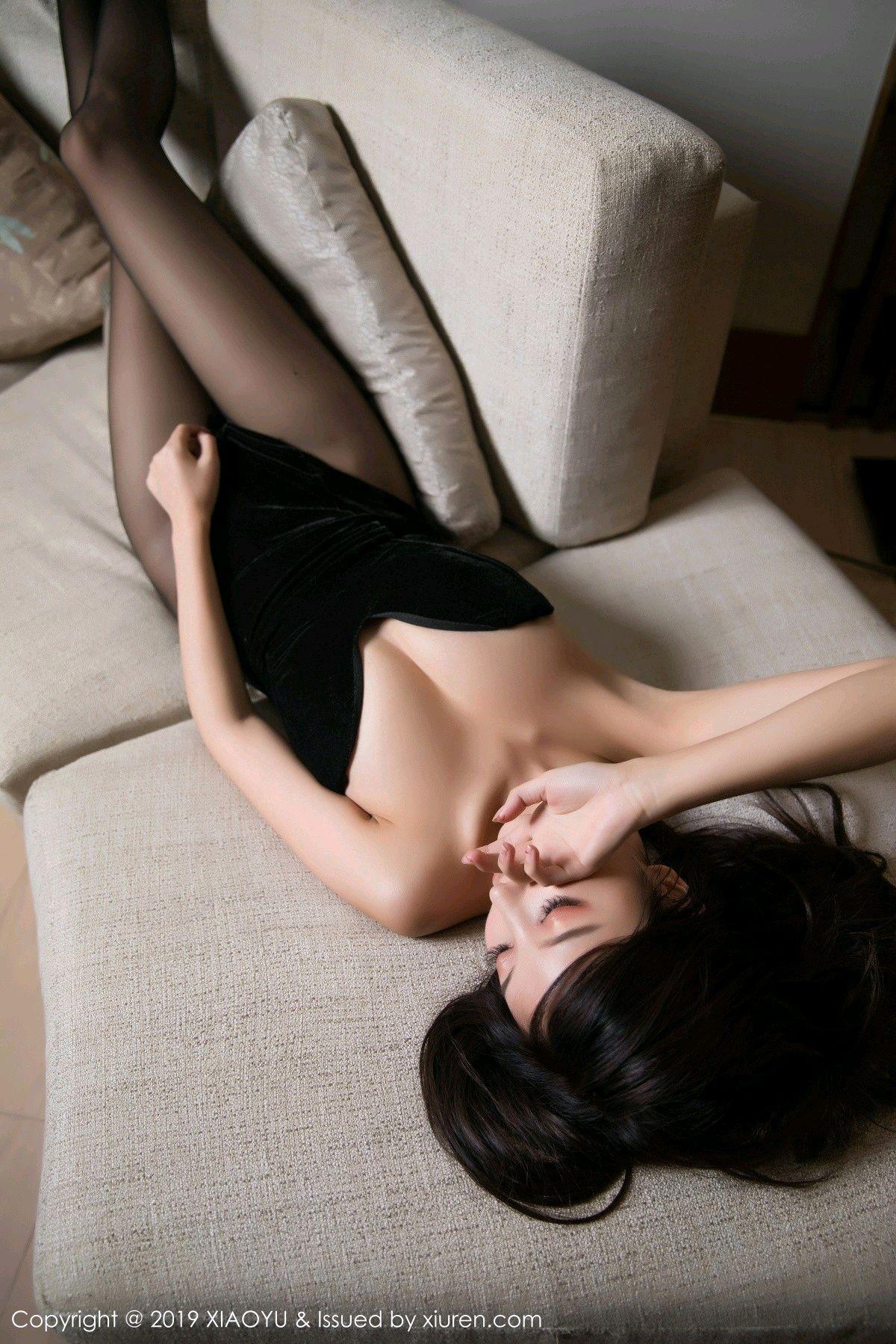 [XiaoYu] Vol.012 Yang Chen Chen 17P, Black Silk, Tall, XiaoYu, Yang Chen Chen