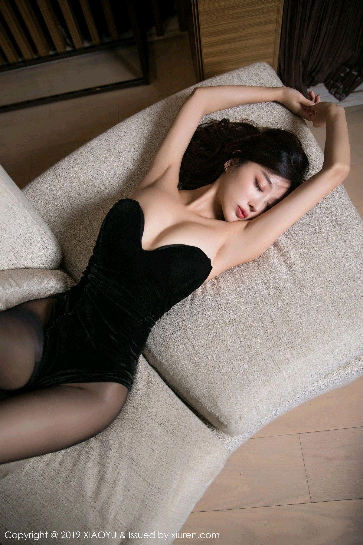 [XiaoYu] Vol.012 Yang Chen Chen 26P, Black Silk, Tall, XiaoYu, Yang Chen Chen