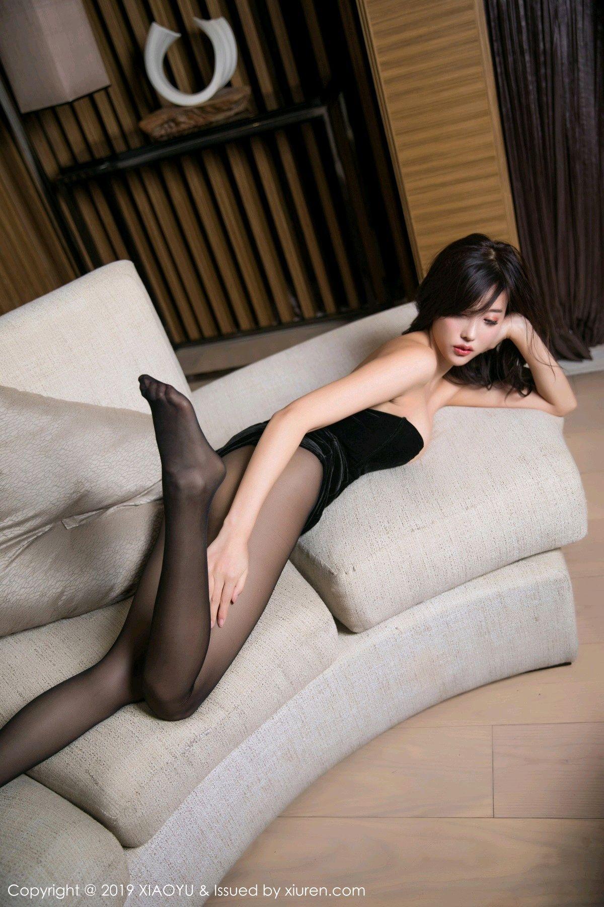 [XiaoYu] Vol.012 Yang Chen Chen 37P, Black Silk, Tall, XiaoYu, Yang Chen Chen