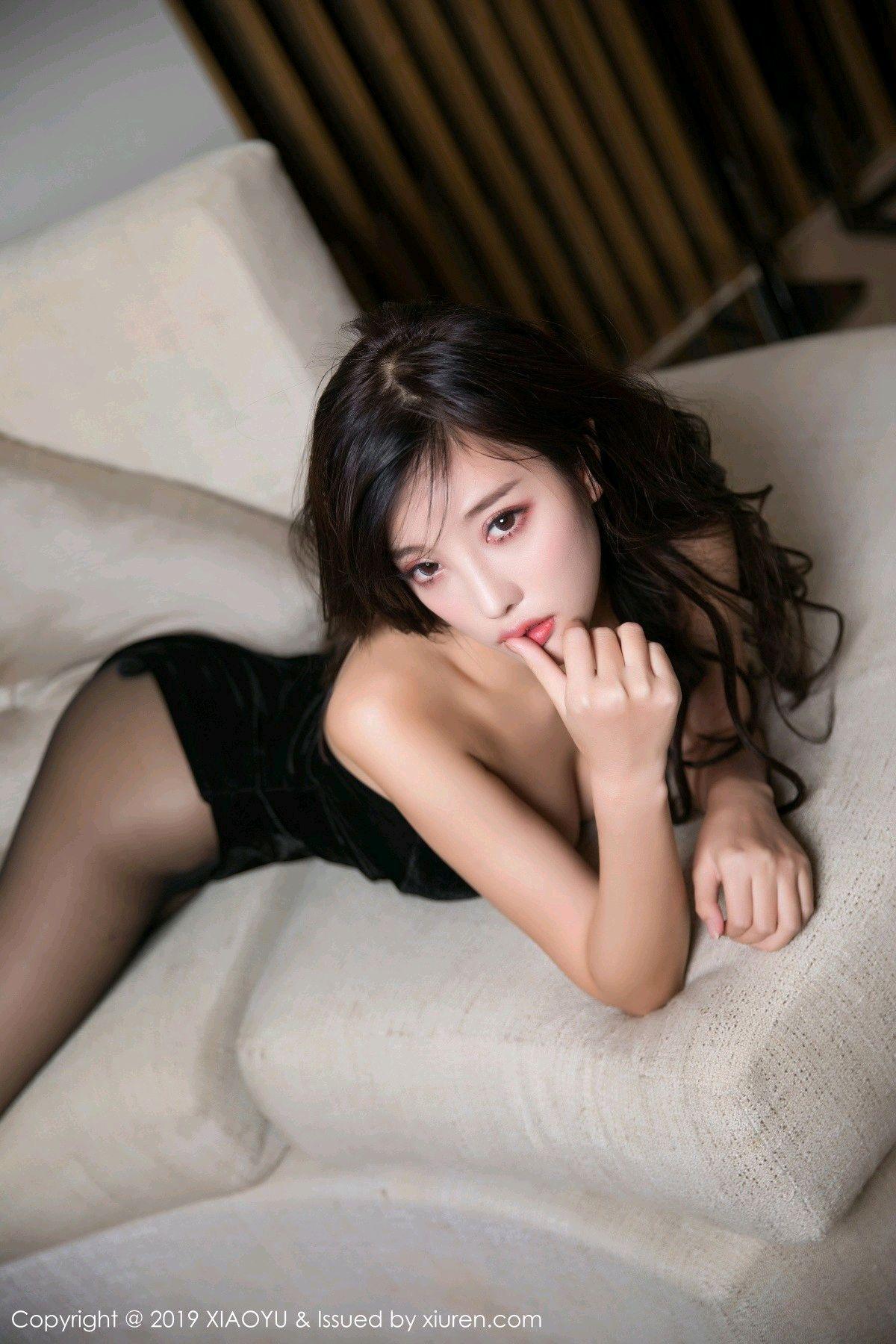 [XiaoYu] Vol.012 Yang Chen Chen 40P, Black Silk, Tall, XiaoYu, Yang Chen Chen