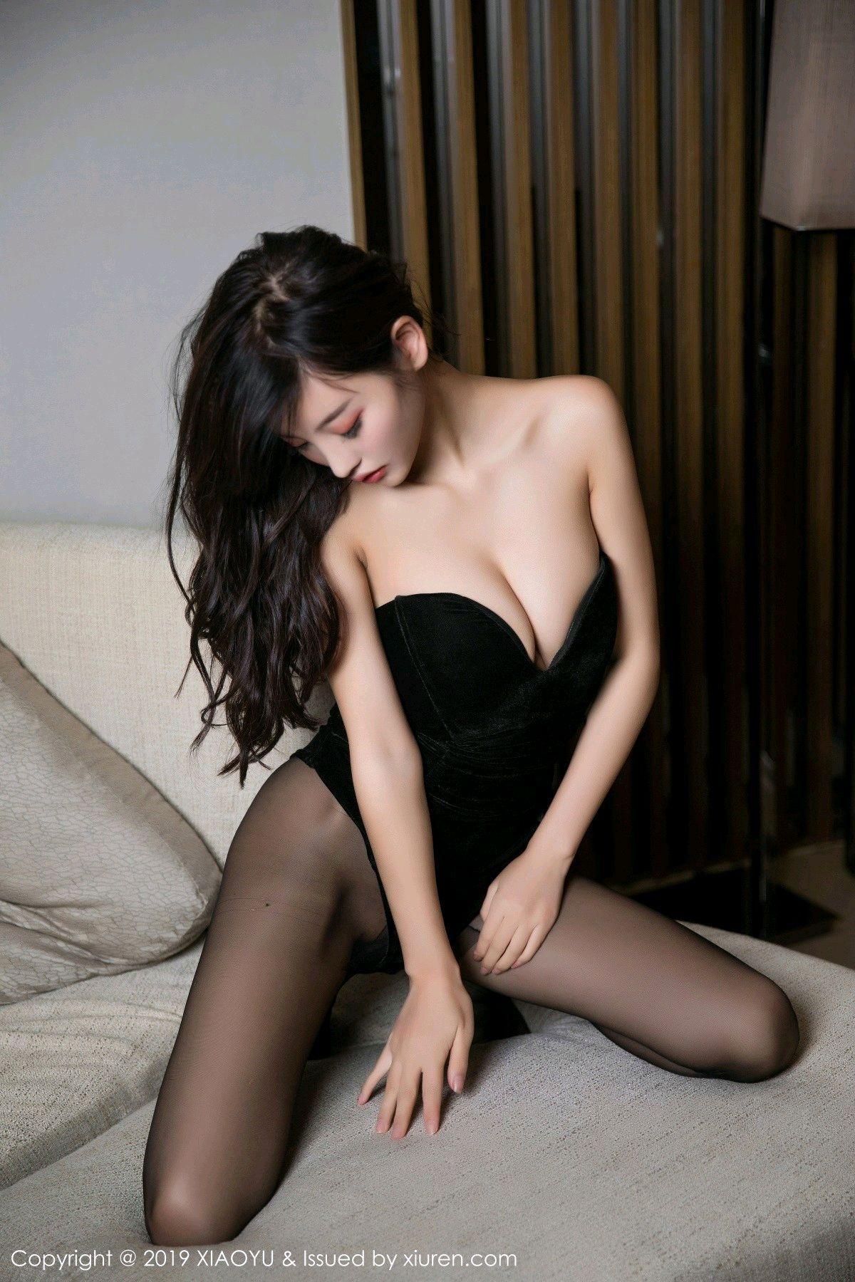 [XiaoYu] Vol.012 Yang Chen Chen 41P, Black Silk, Tall, XiaoYu, Yang Chen Chen
