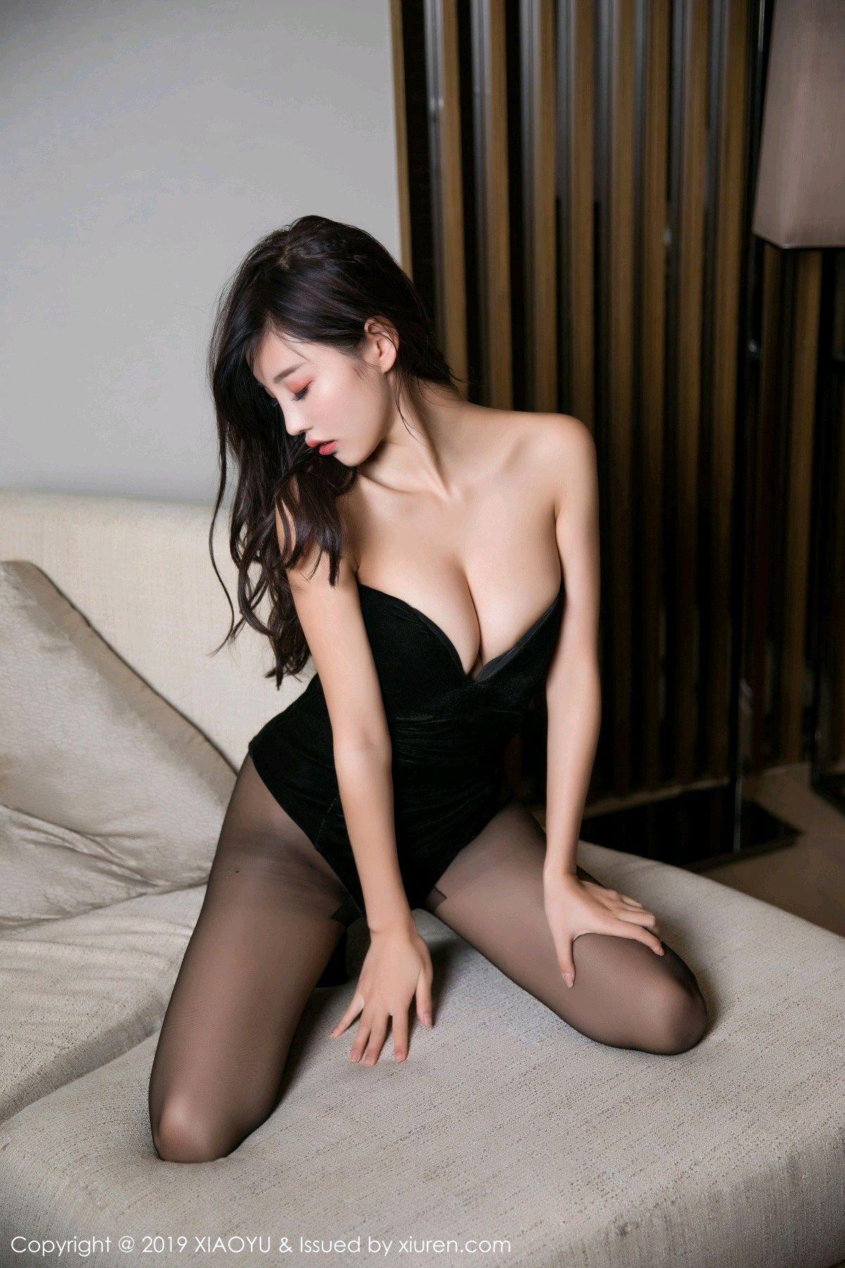 [XiaoYu] Vol.012 Yang Chen Chen 42P, Black Silk, Tall, XiaoYu, Yang Chen Chen